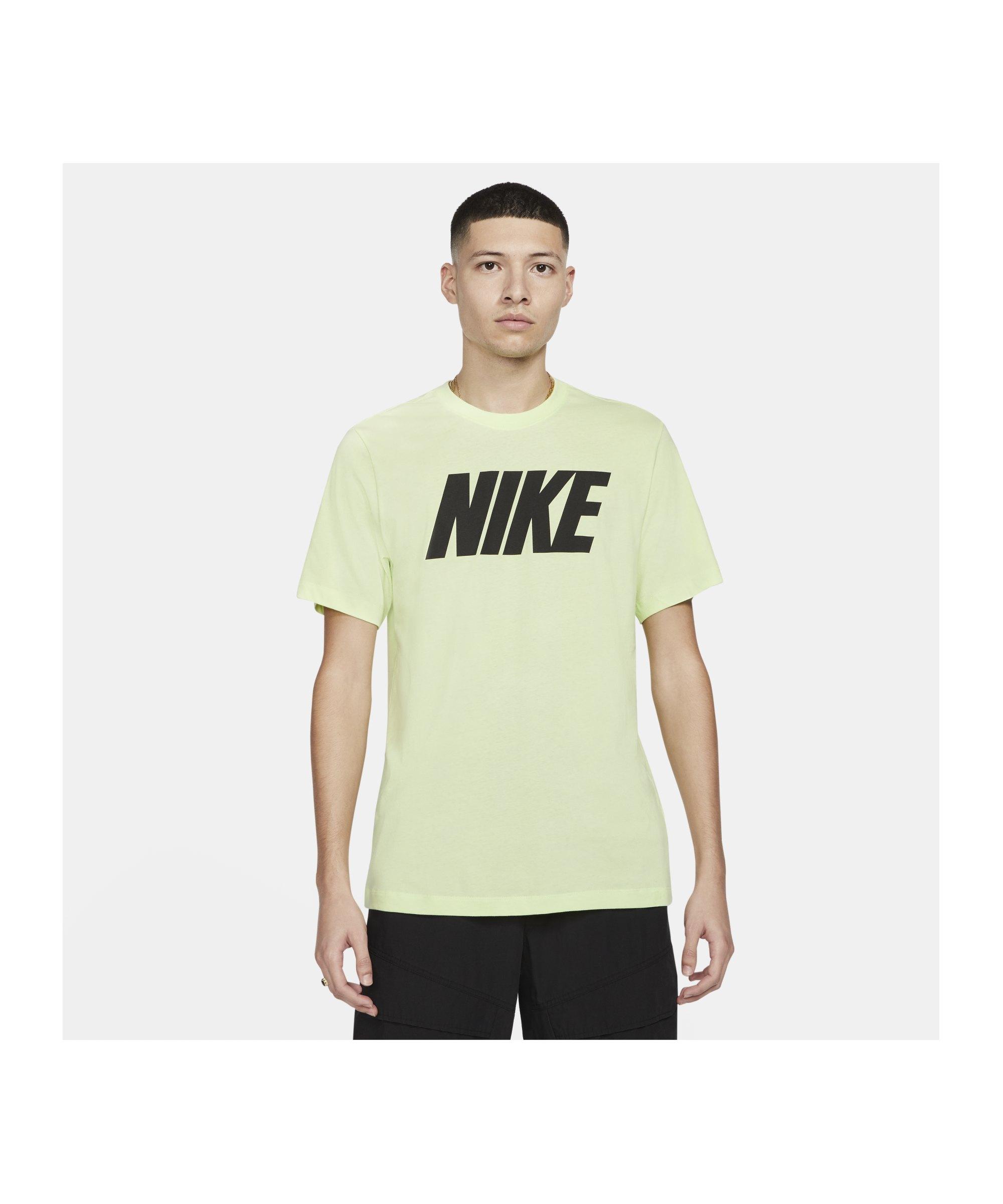Nike Icon Block T-Shirt Gelb Schwarz F383 - gruen