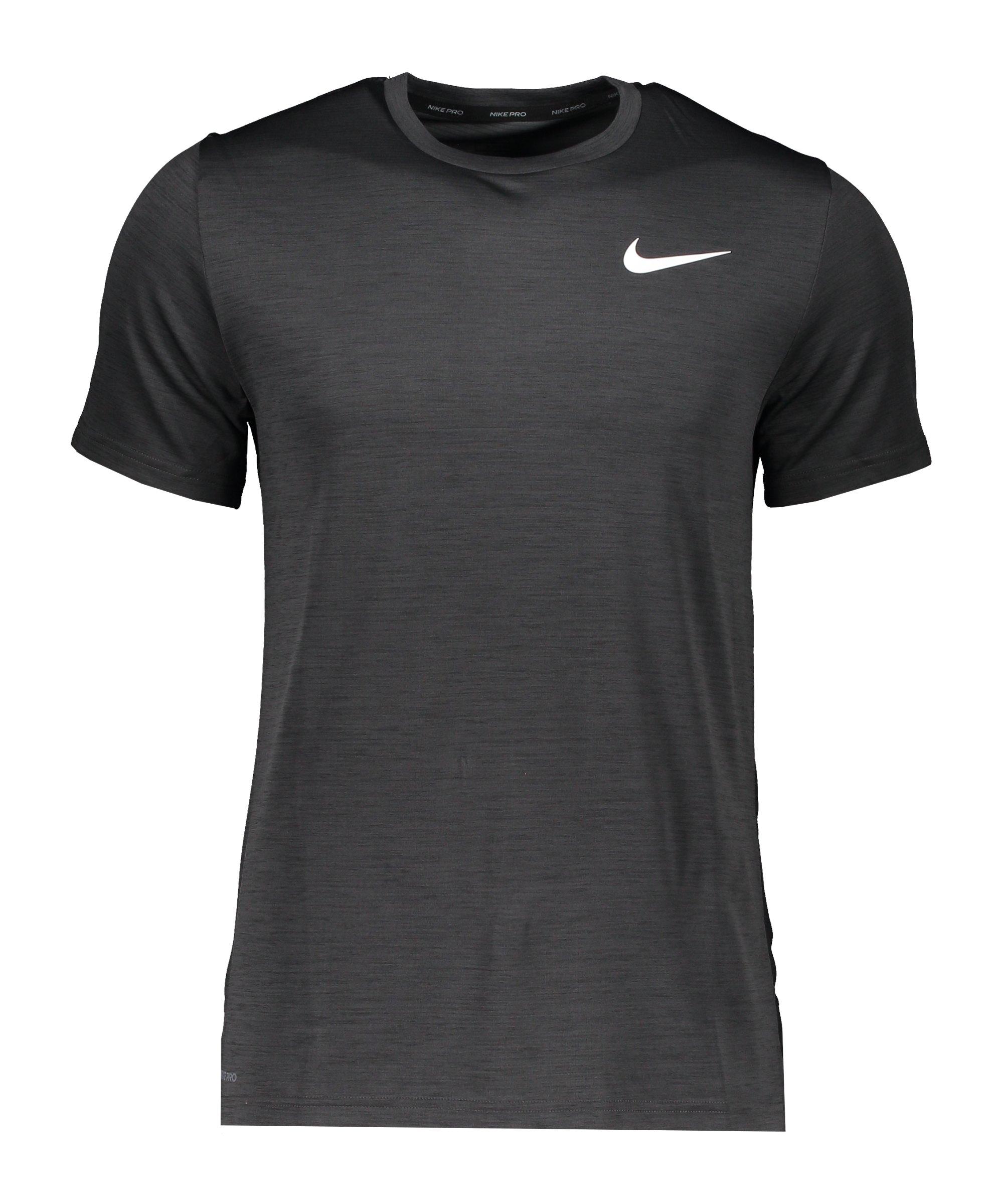 Nike Hyper Veneer T-Shirt Grau Schwarz Weiss F010 - schwarz