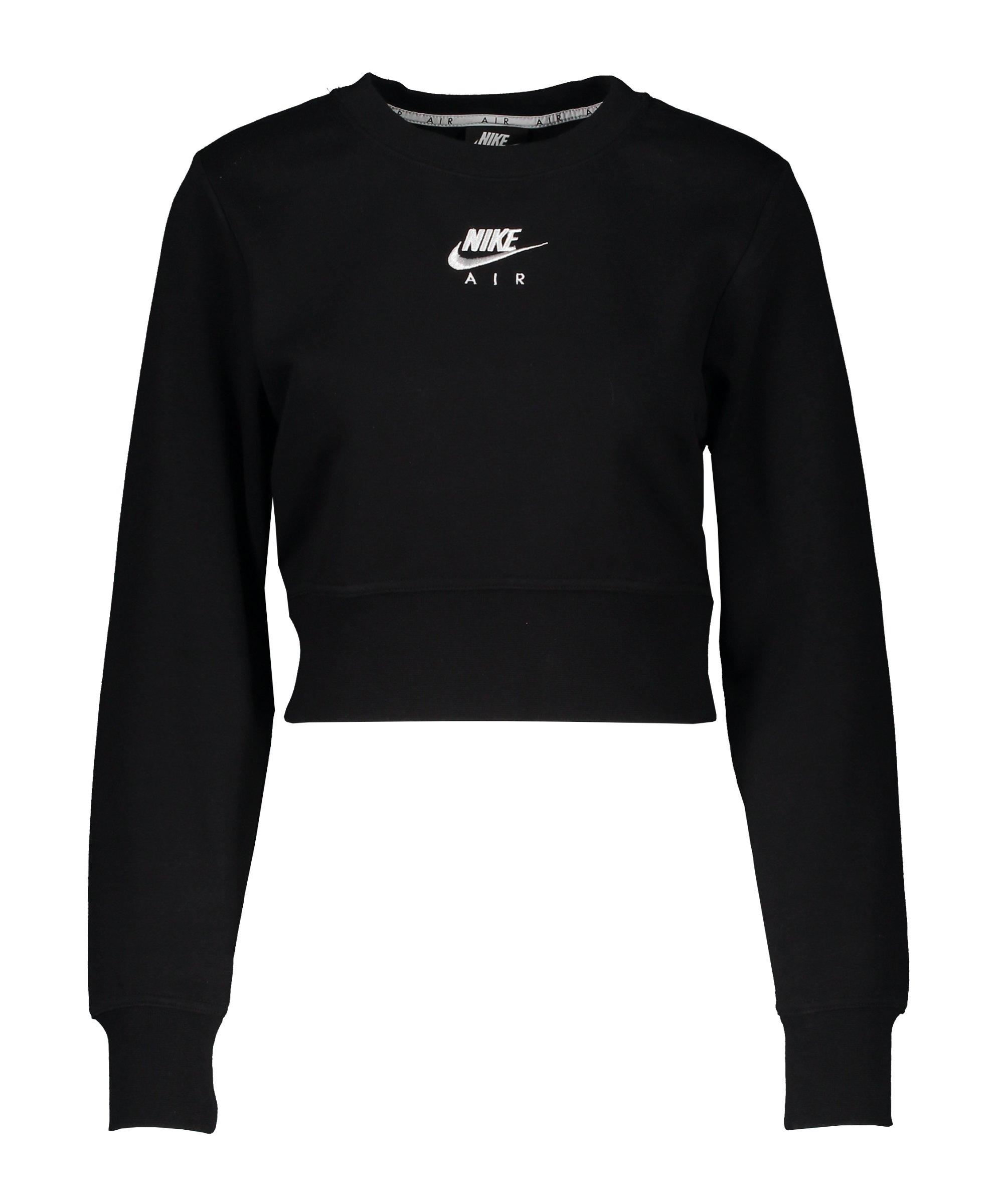 Nike Air Crew Fleece Sweatshirt Damen Schwarz F010 - schwarz