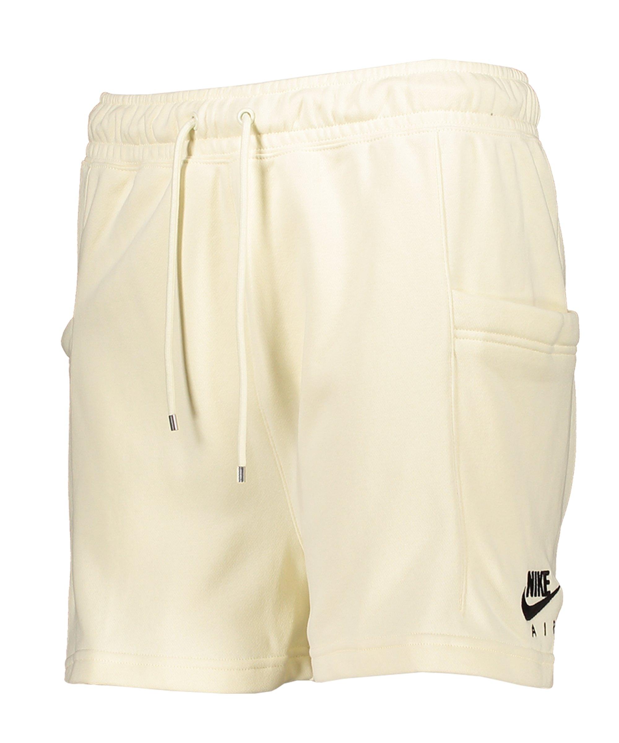 Nike Air Fleece Short Damen Beige Schwarz F113 - beige