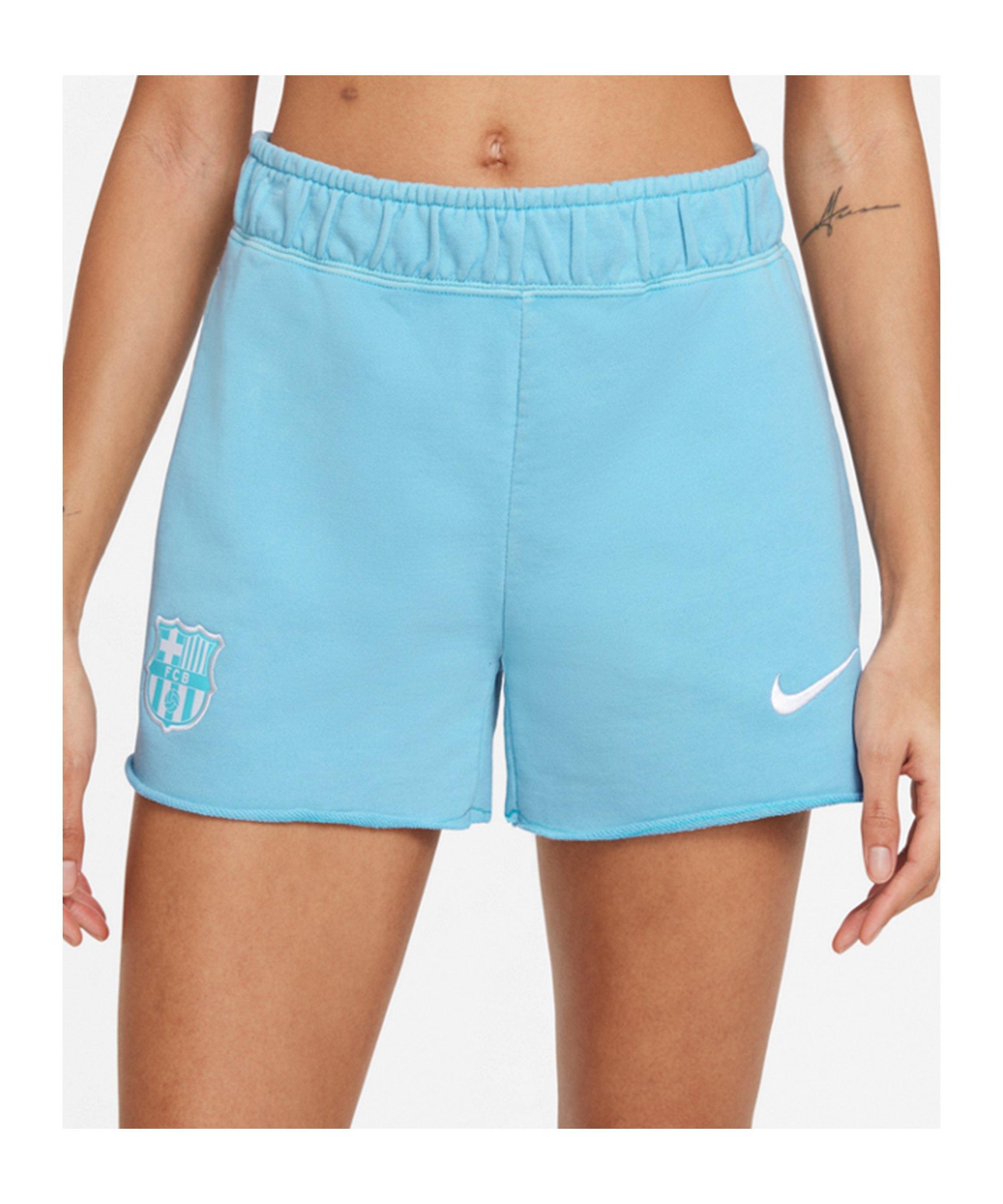 Nike FC Barcelona Washed Short Damen Blau F425 - blau