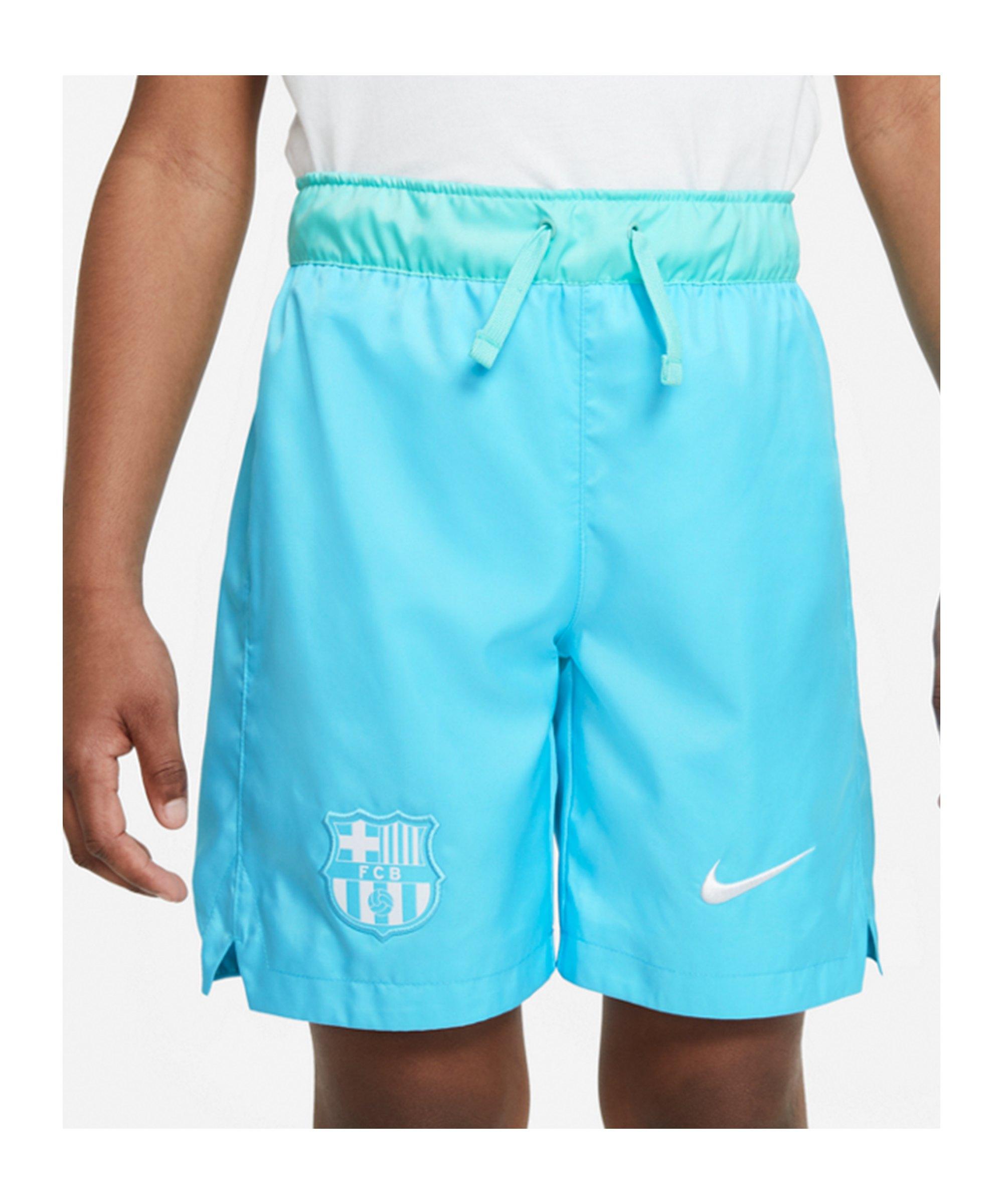 Nike FC Barcelona Woven Short Kids Blau F425 - blau