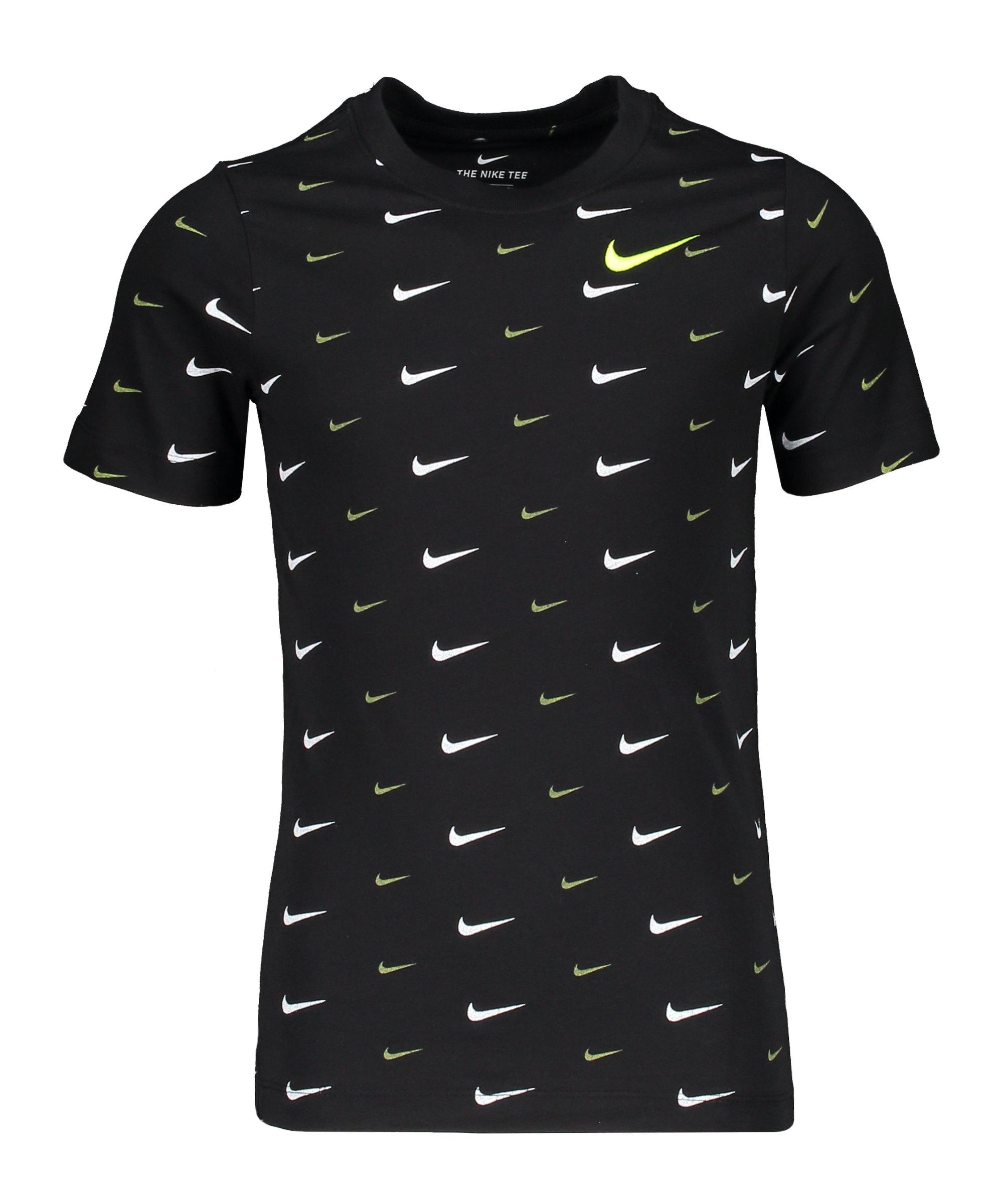 Nike Swoosh T-Shirt Kids Schwarz F010 - schwarz