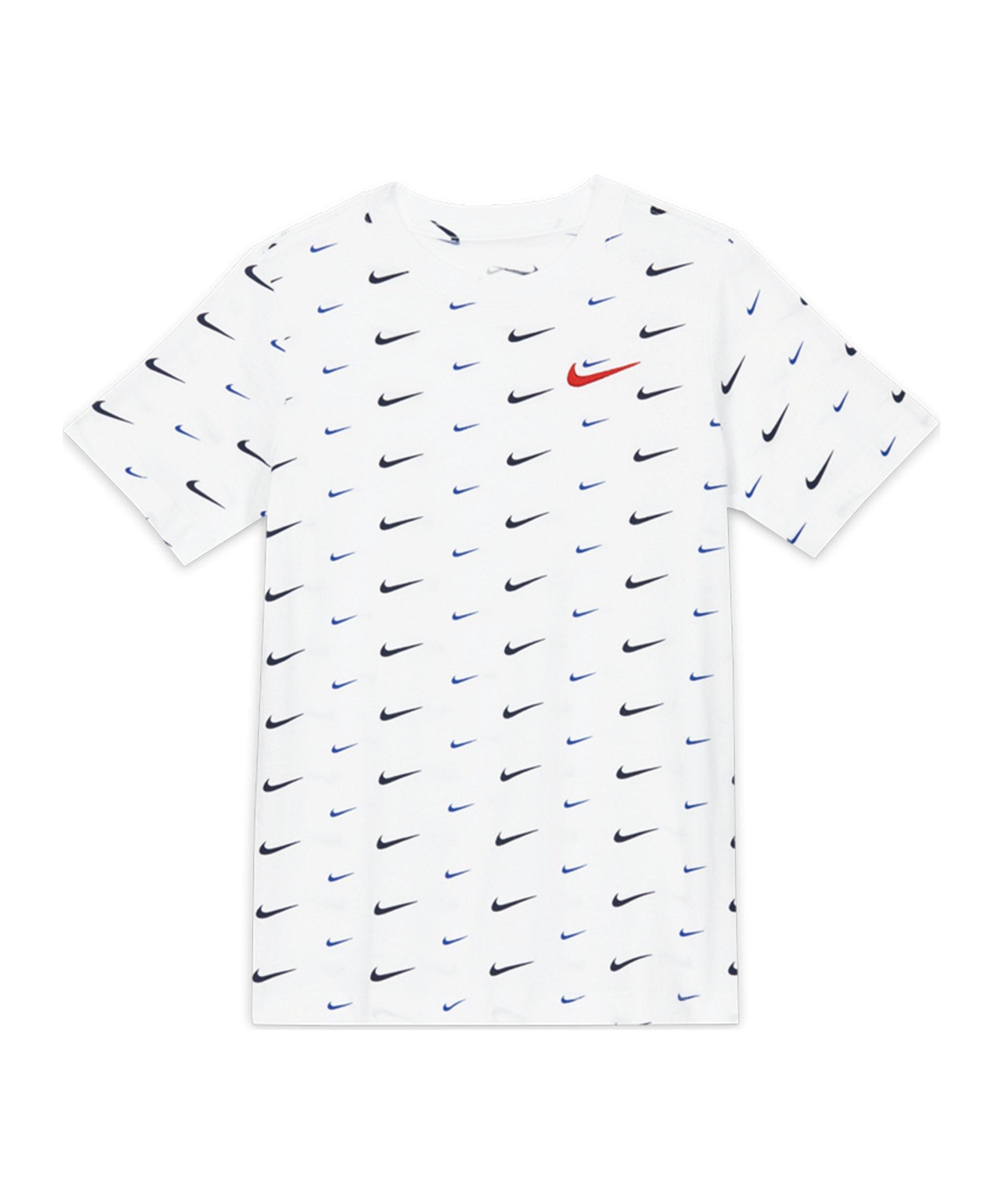 Nike Swoosh T-Shirt Kids Weiss F100 - weiss