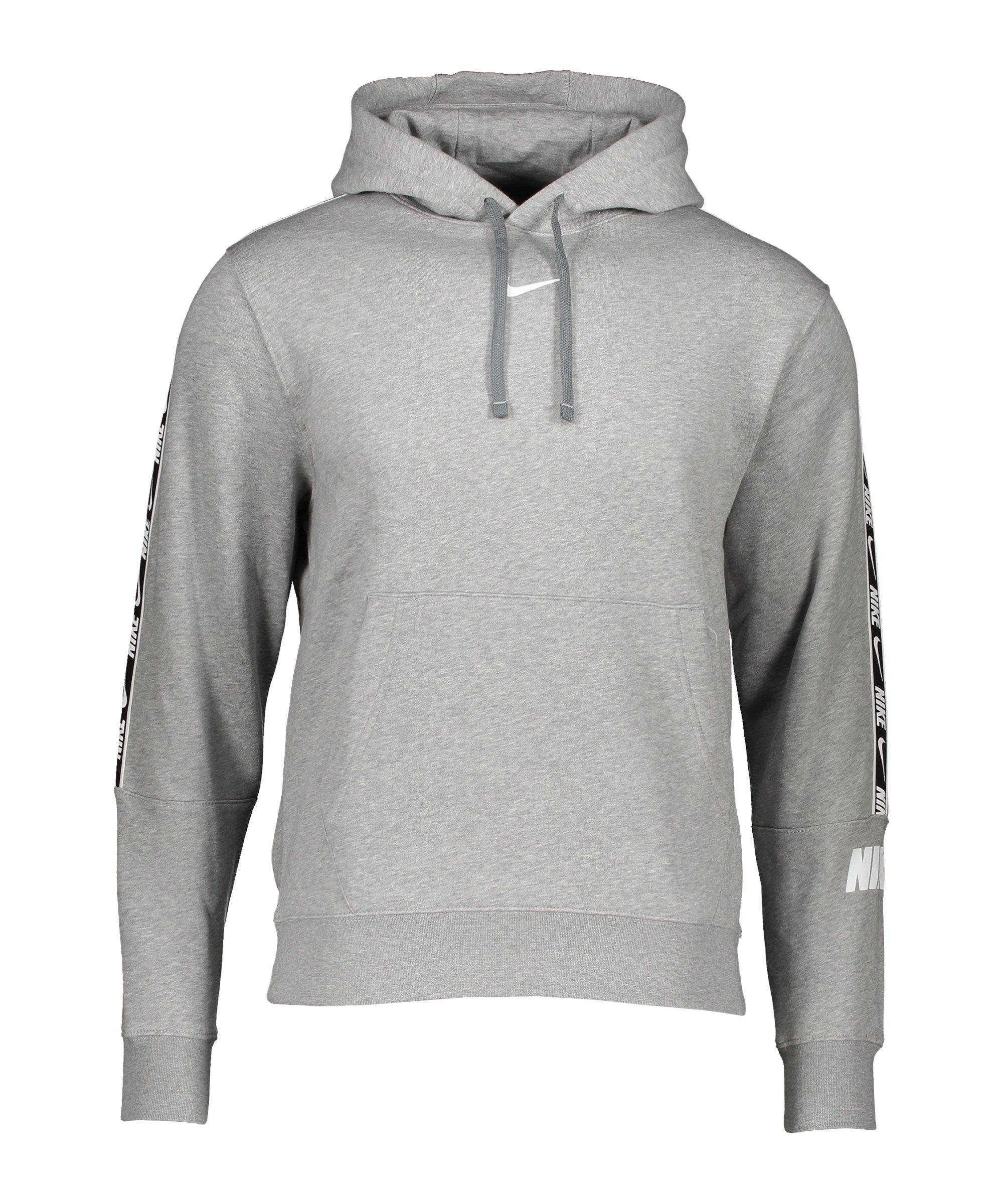 Nike Repeat Fleece Hoody Grau Weiss F063 - grau