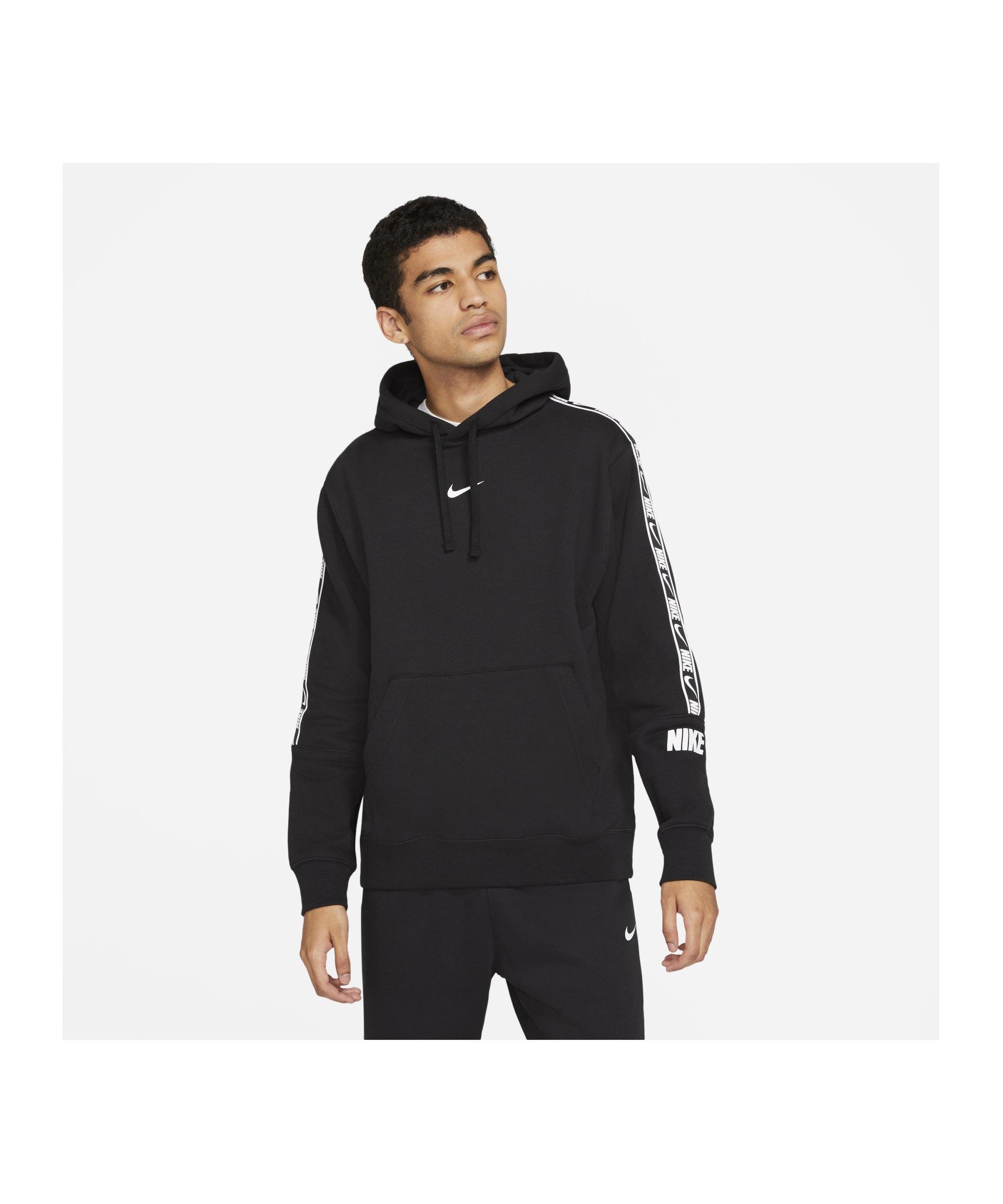 Nike Repeat Fleece Hoody Schwarz F011 - schwarz