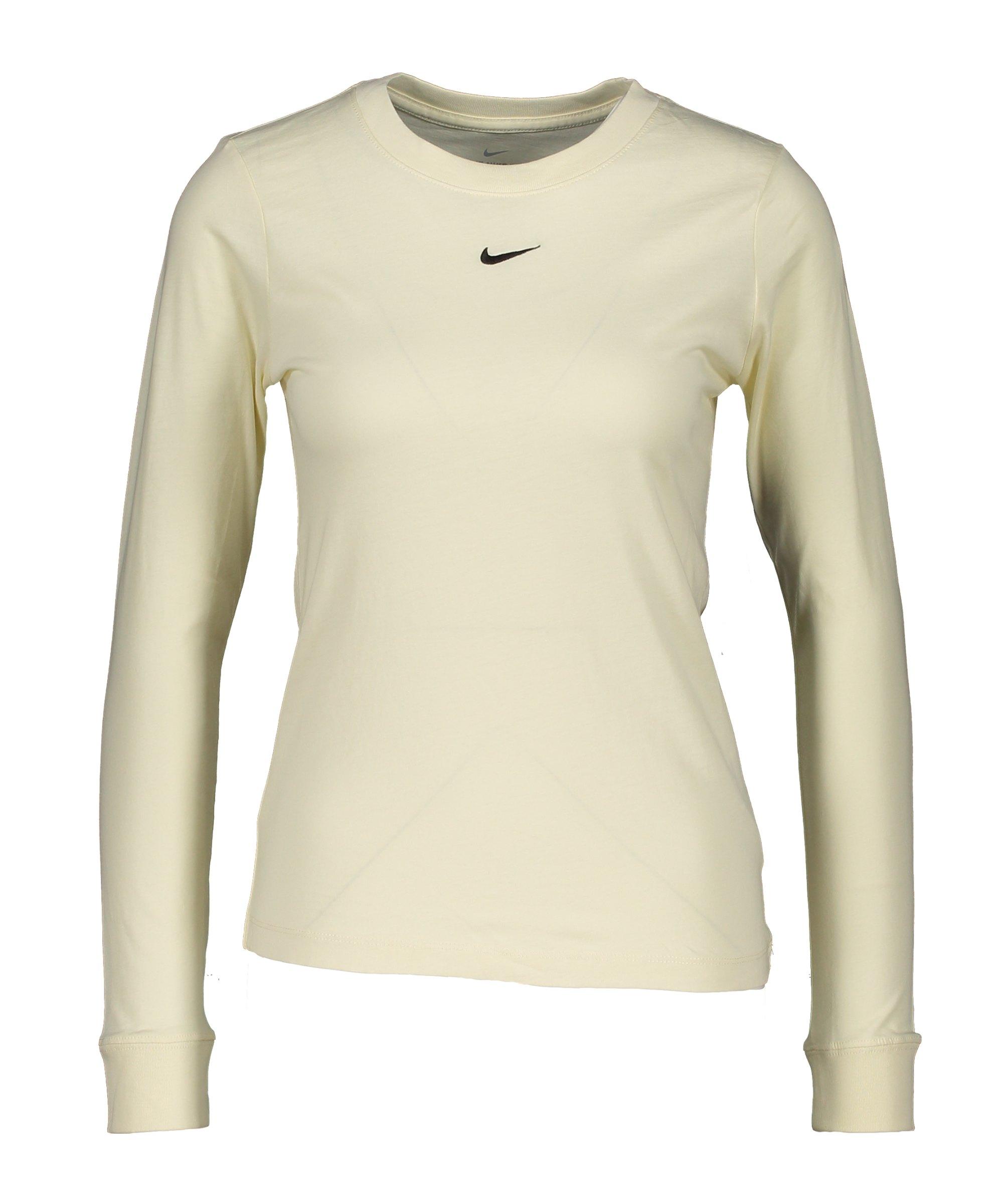 Nike Essentials Shirt langarm Damen Beige F113 - beige