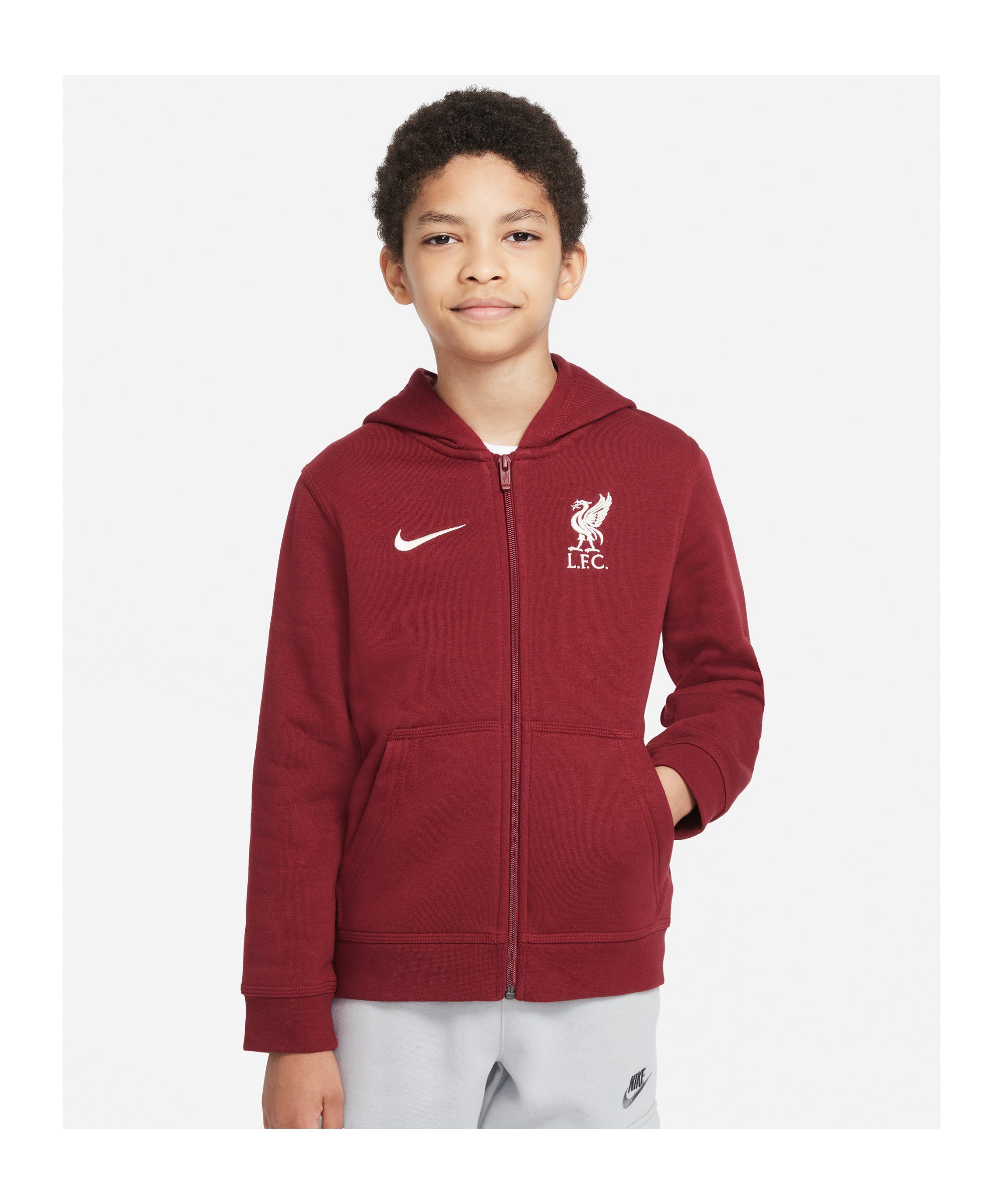 Nike FC Liverpool Kapuzenjacke Kids Rot F677 - rot