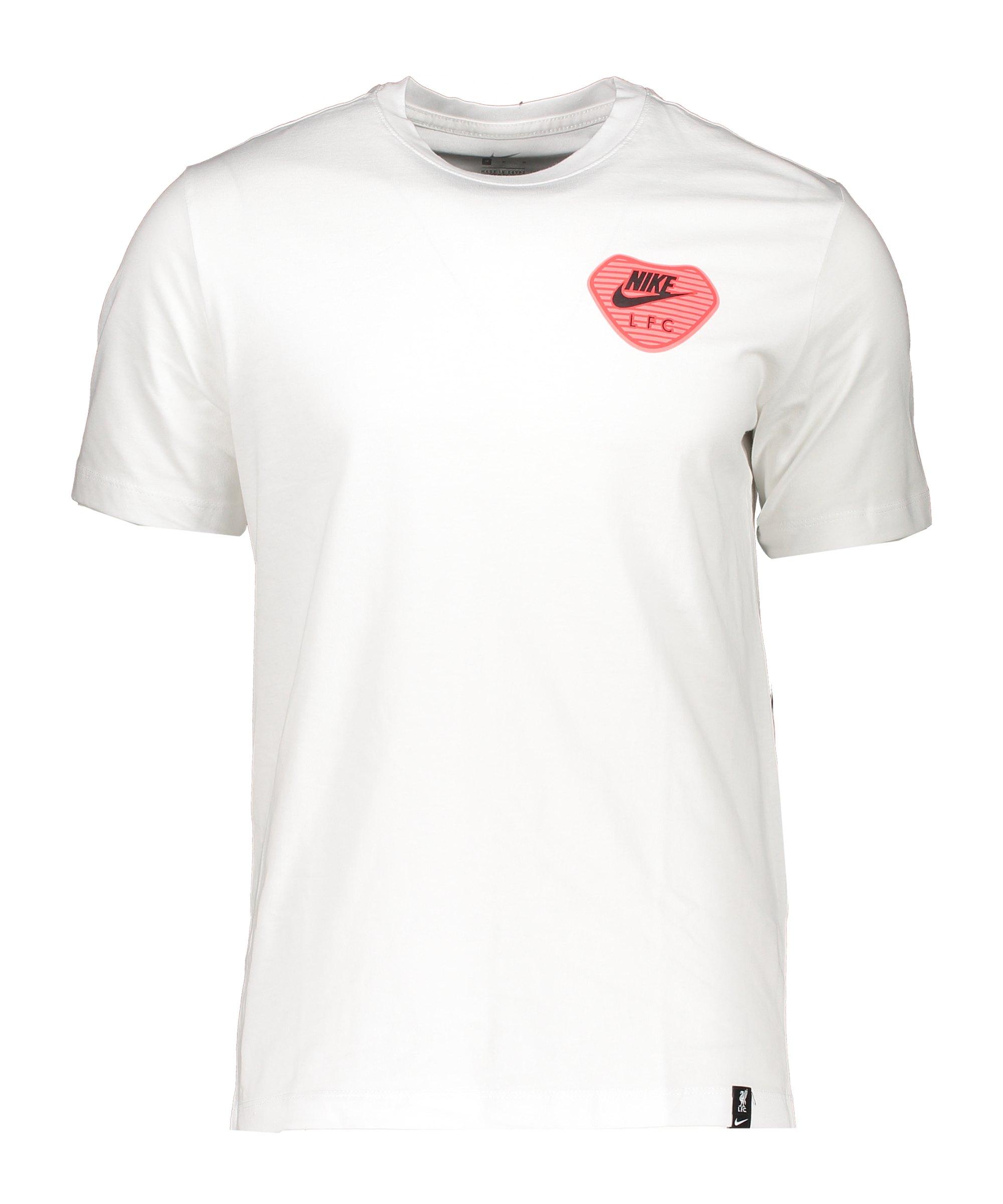 Nike FC Liverpool Travel T-Shirt Weiss F100 - weiss