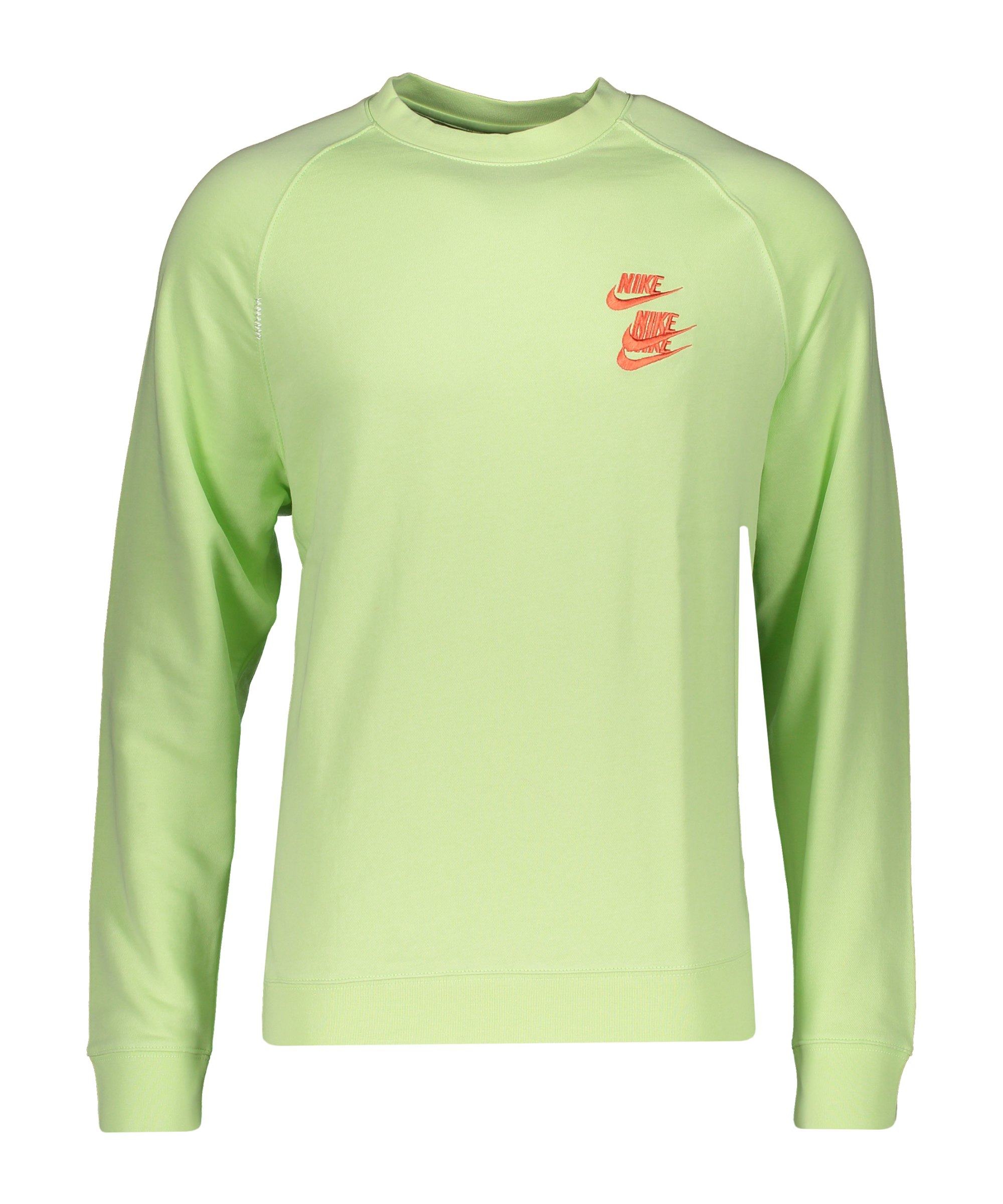 Nike World Tour Crew Sweatshirt Grün F383 - gruen