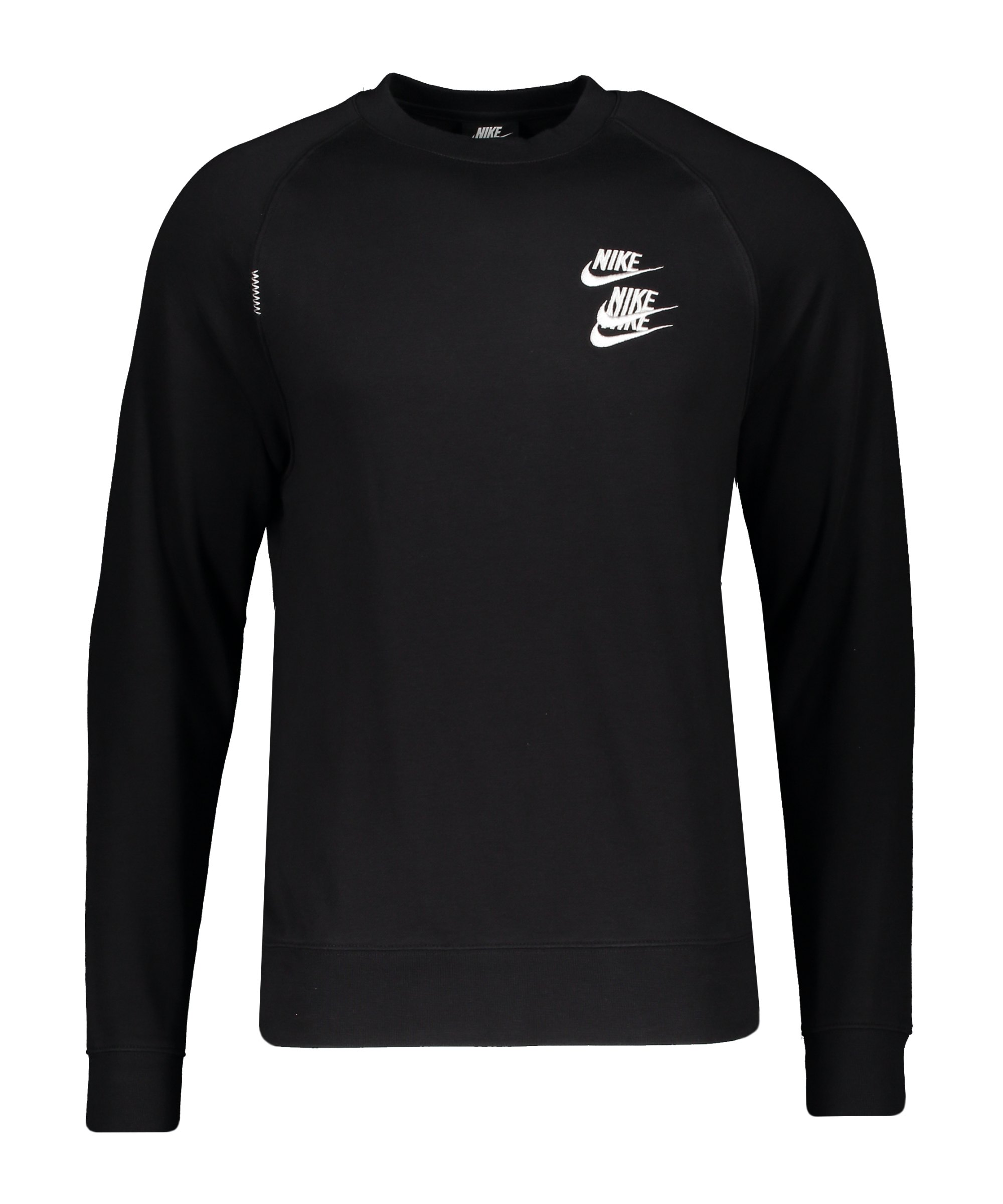 Nike World Tour Crew Sweatshirt Schwarz F010 - schwarz