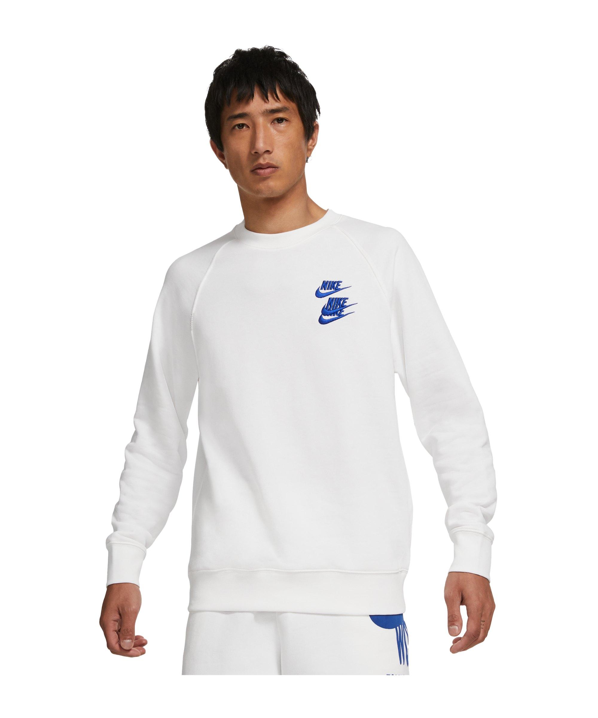 Nike World Tour Crew Sweatshirt Weiss F100 - weiss