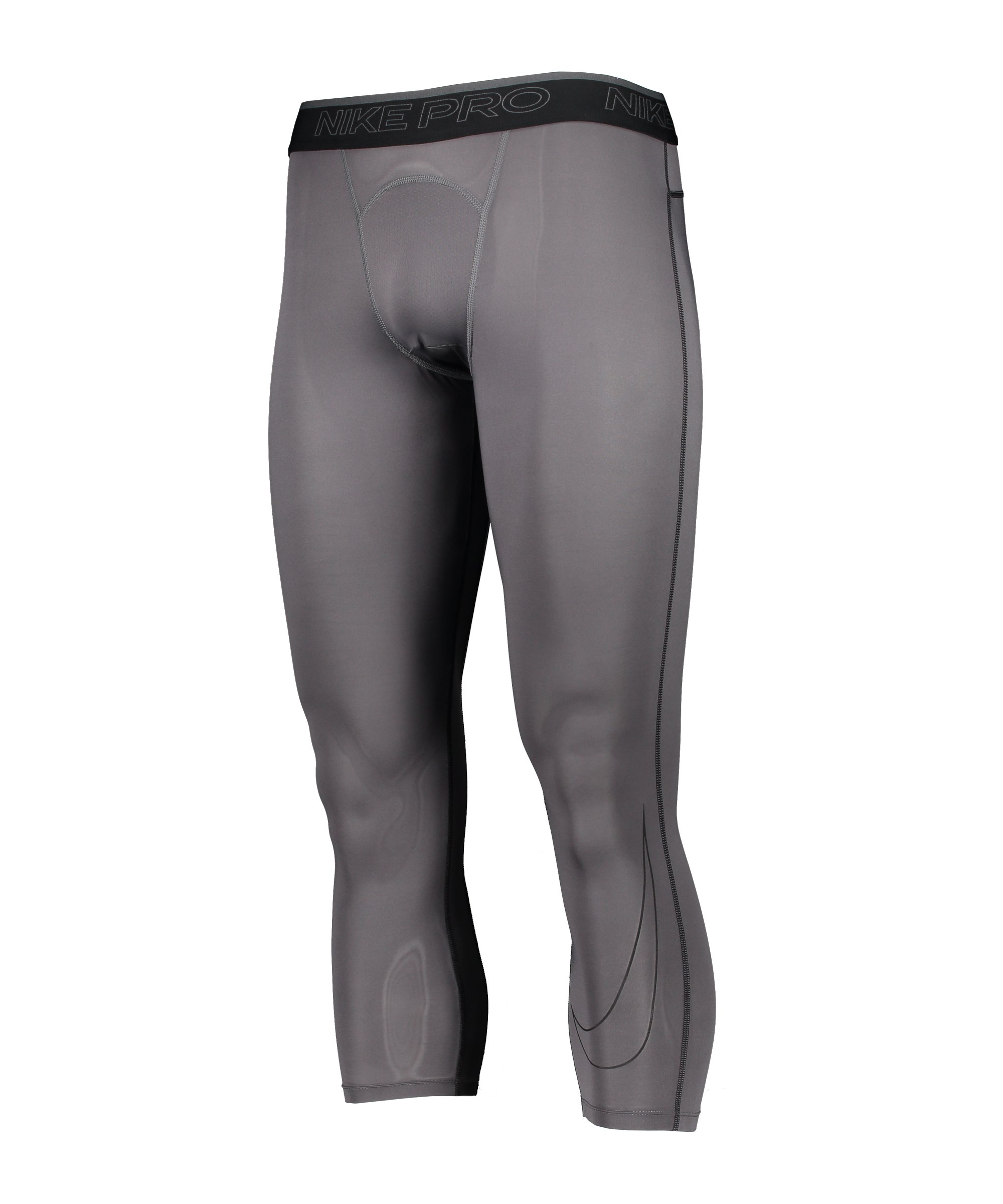 Nike Pro Dri-FIT 3/4 Tight Grau Schwarz F068 - grau