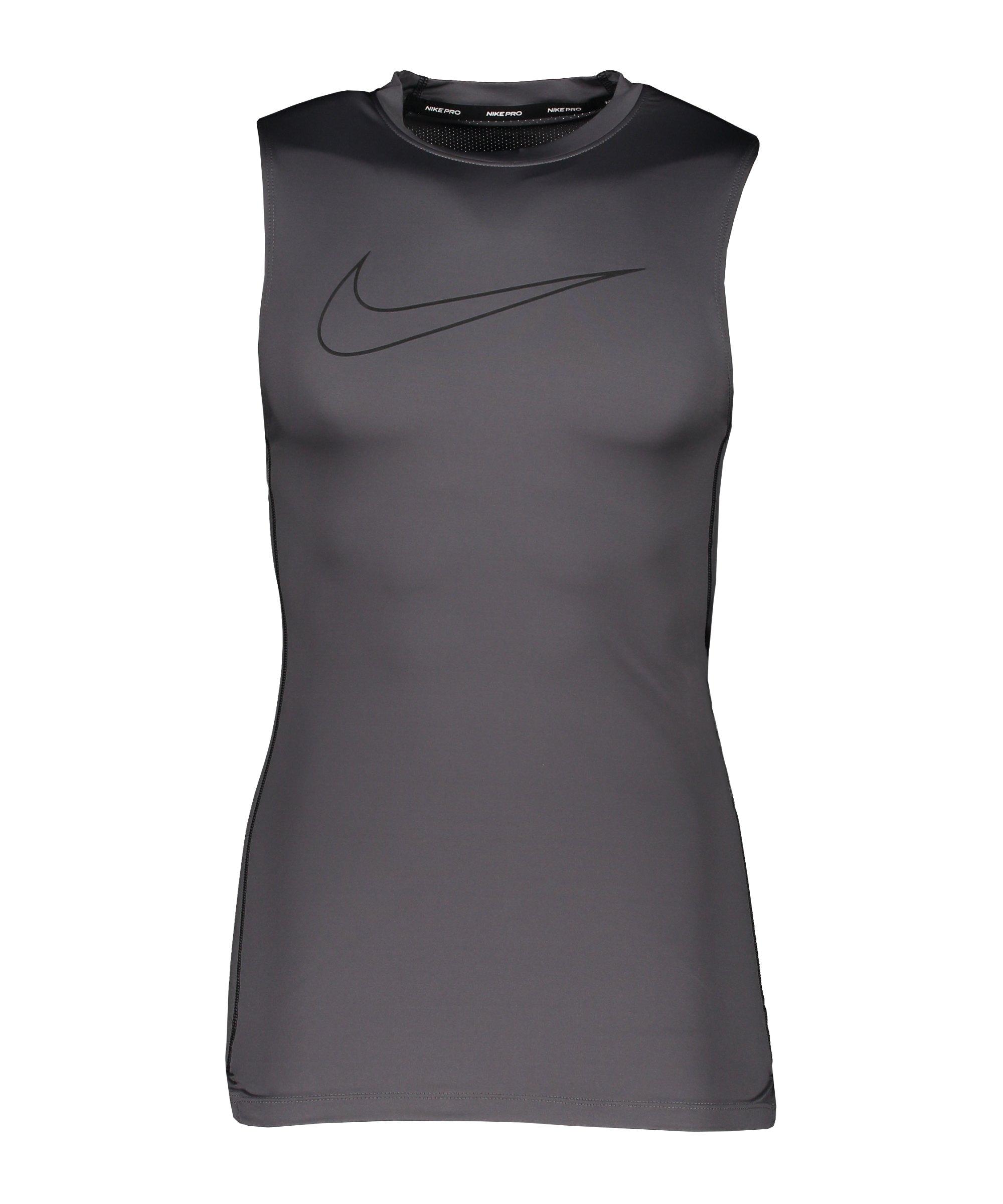 Nike Pro Tight-Fit Tanktop Grau Schwarz F068 - grau