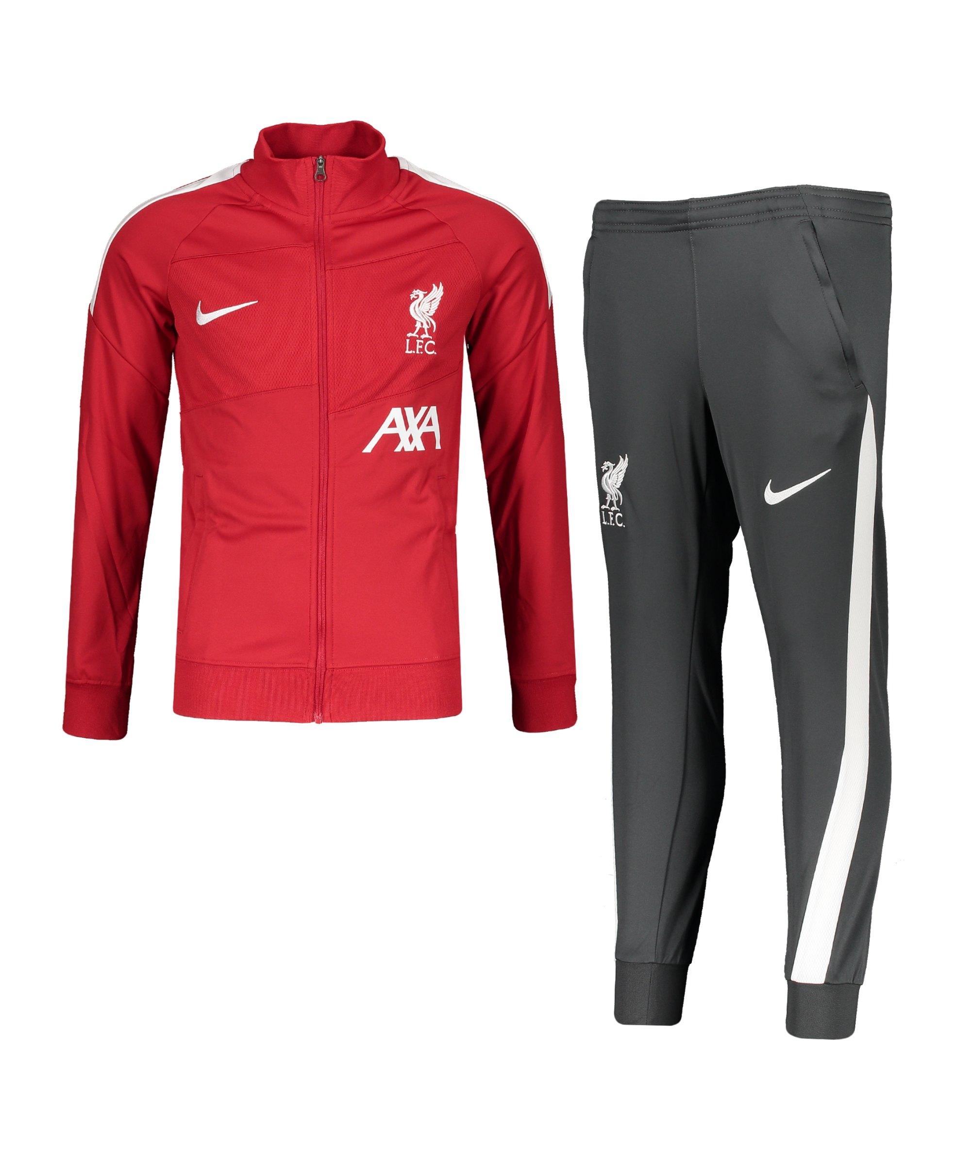 Nike FC Liverpool Trainingsanzug Kids Rot F678 - rot