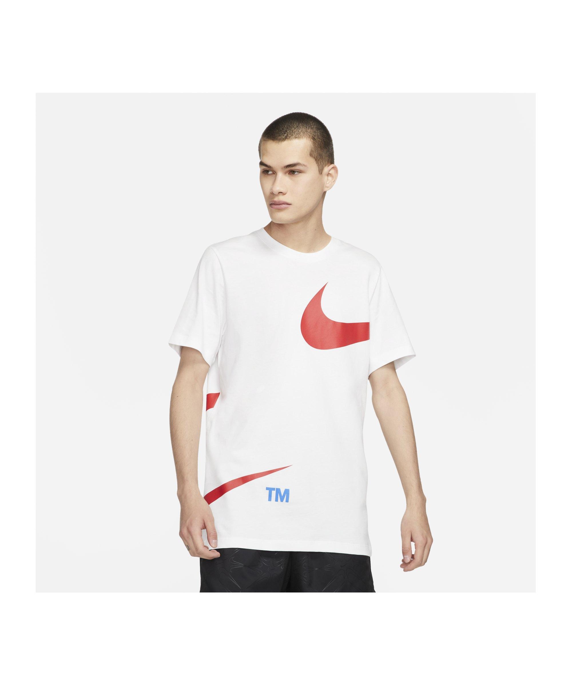 Nike Big Swoosh T-Shirt Weiss F100 - weiss