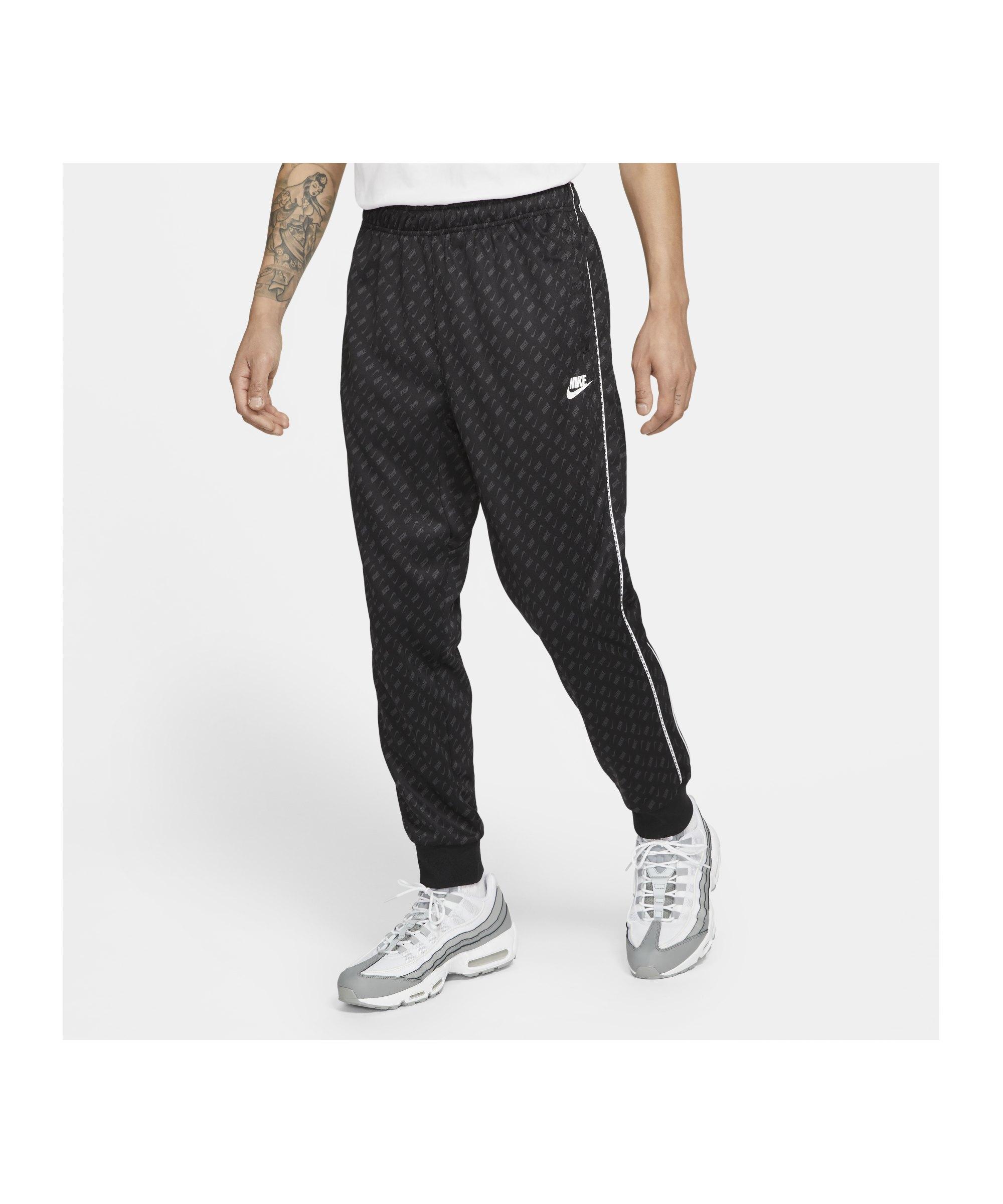 Nike Repeat Print Jogginghose Schwarz F011 - schwarz