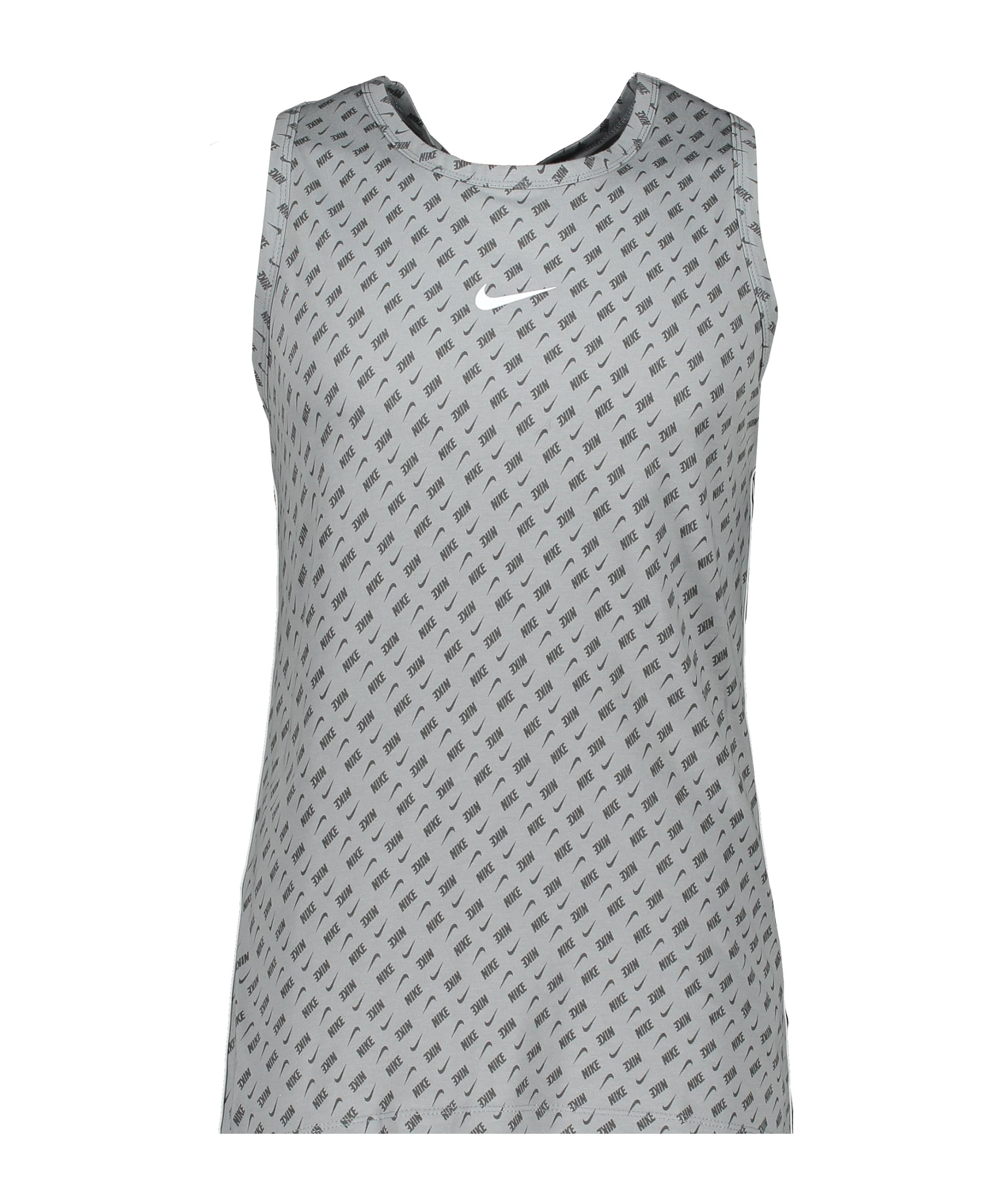 Nike Repeat Print Tanktop Grau F073 - grau