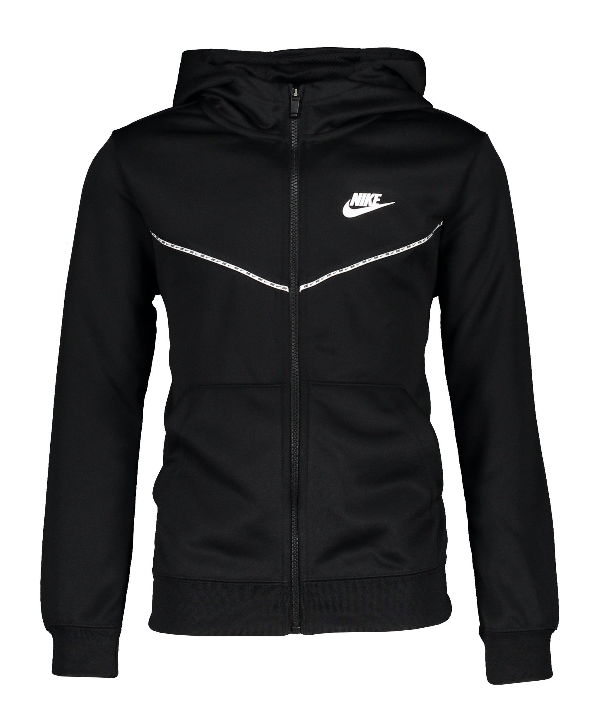 Nike Repeat Jacke Kids Schwarz F010 - schwarz