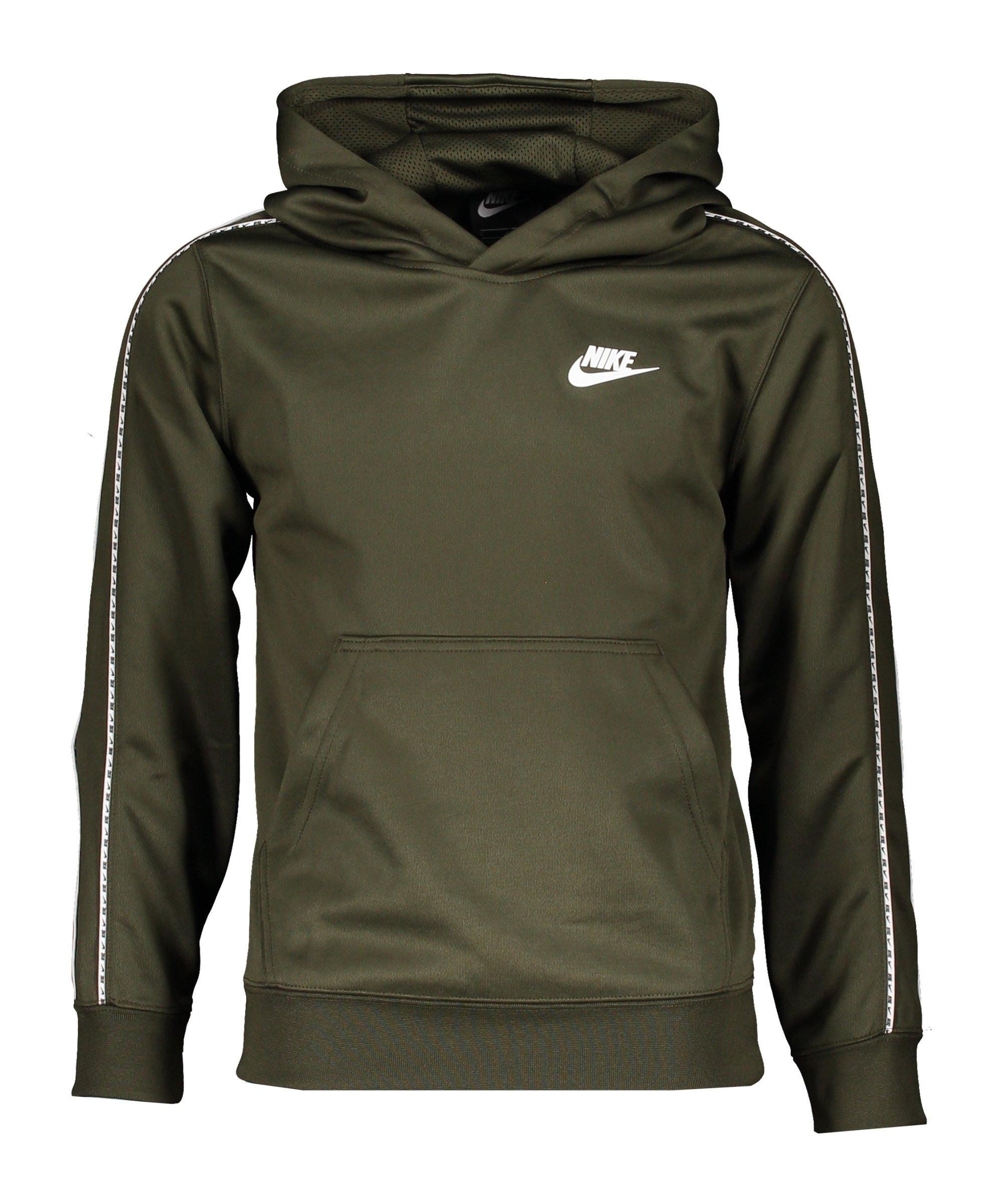Nike Repeat Hoody Kids Grün Weiss F325 - gruen