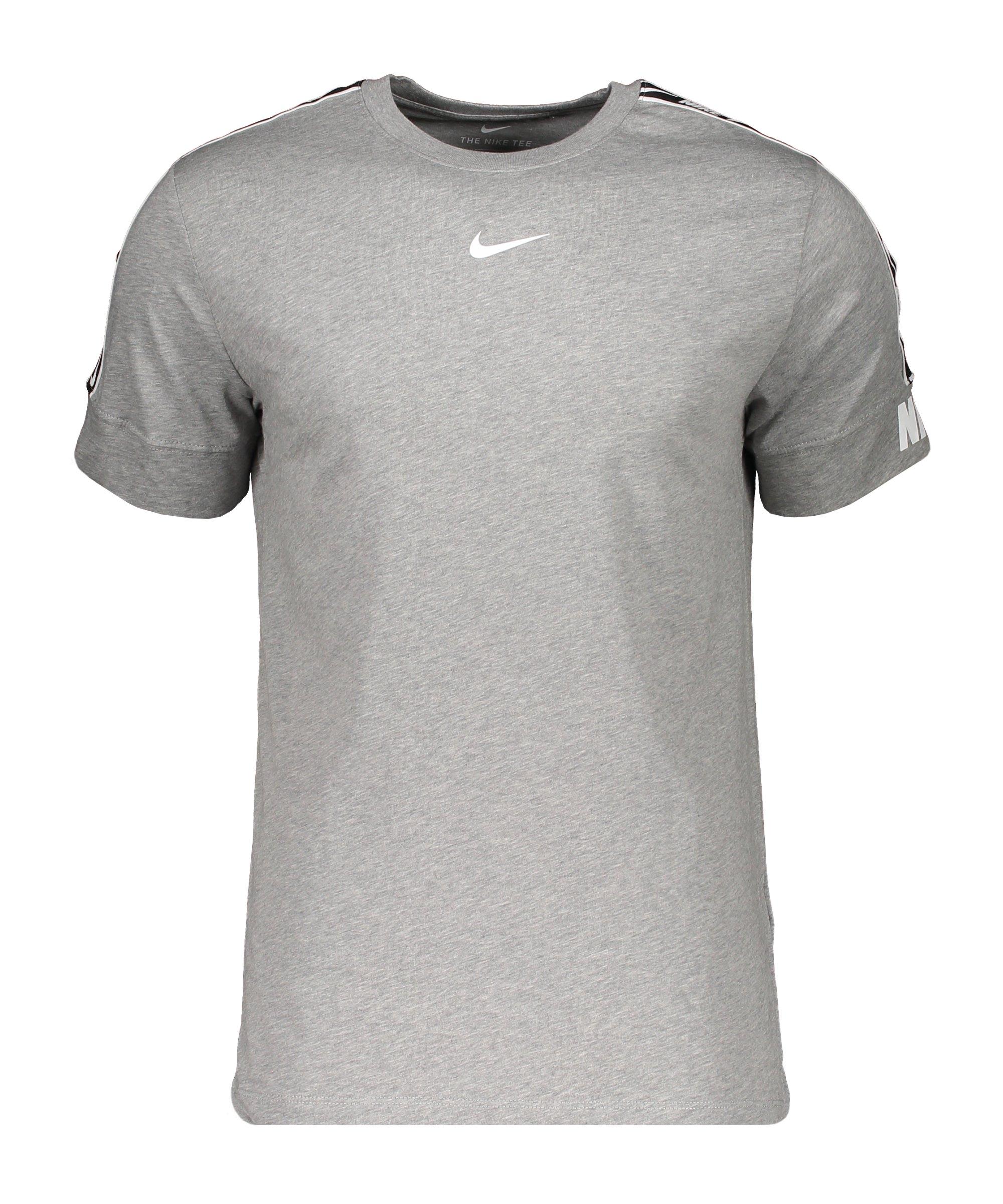Nike Repeat T-Shirt Grau F063 - grau
