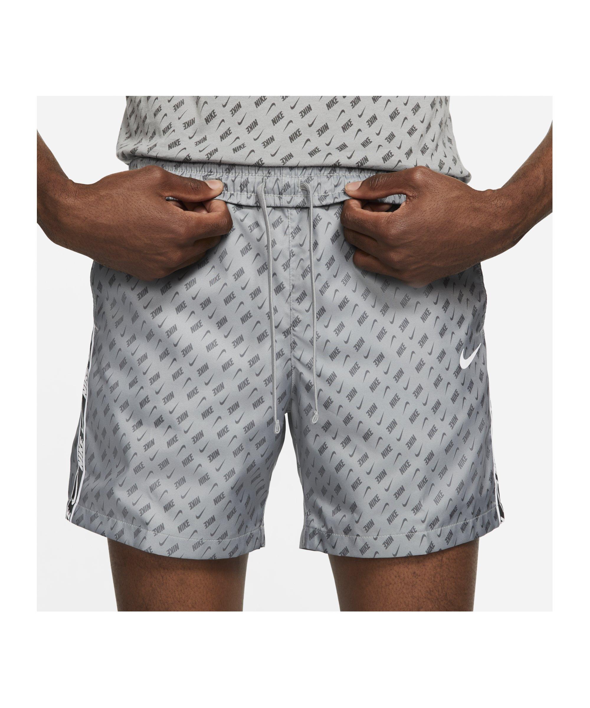 Nike Repeat Woven Print Short Grau F073 - grau