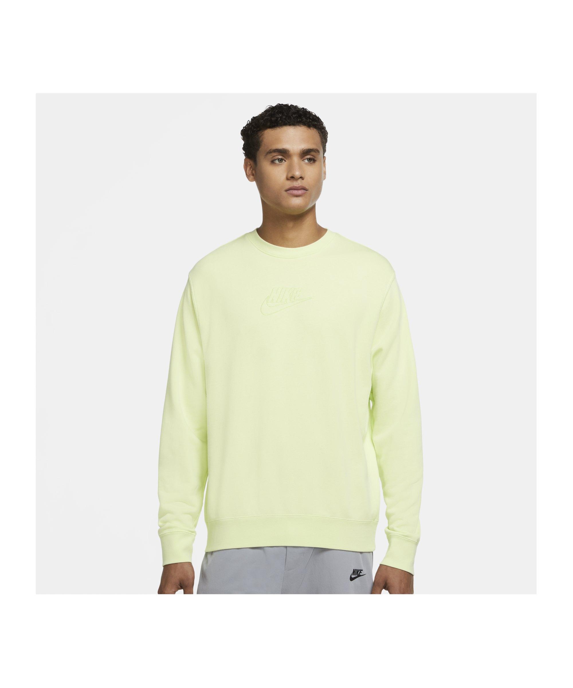 Nike Essentials+ French Terry Crew Sweatshirt F736 - gruen