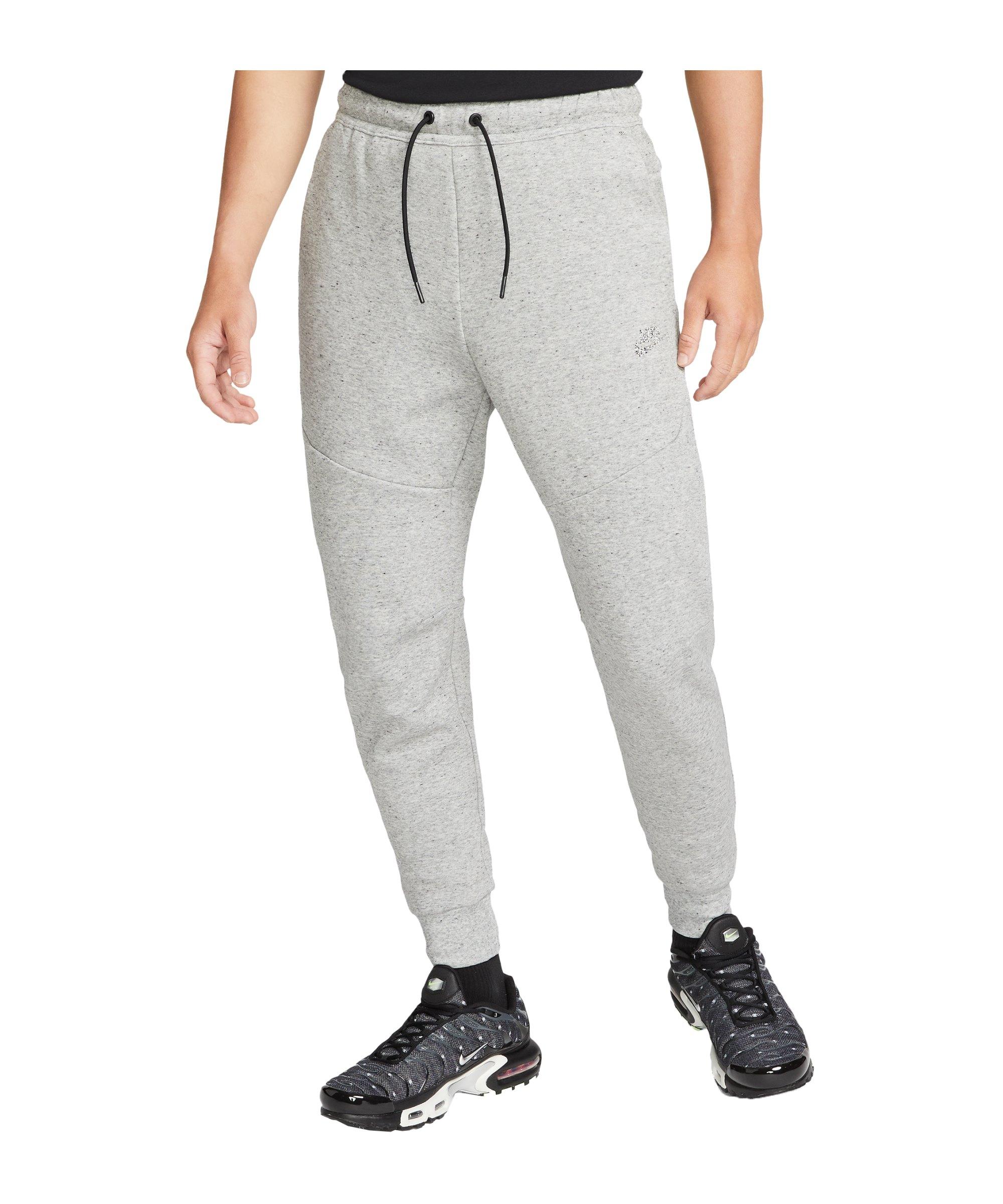 Nike Tech Fleece Jogginghose Grau Schwarz F010 - grau