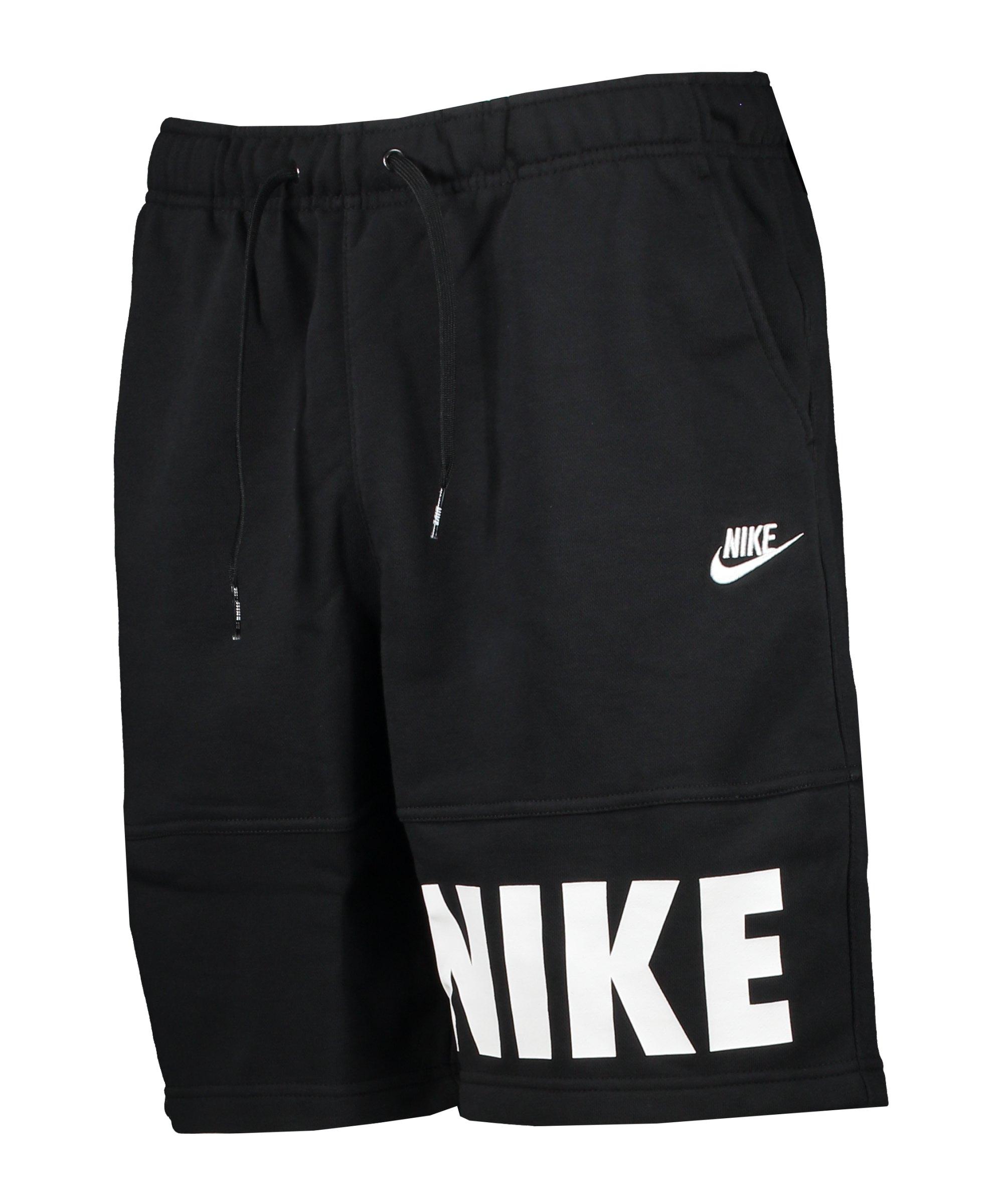 Nike Essentials+ French Terry Short Schwarz F010 - schwarz
