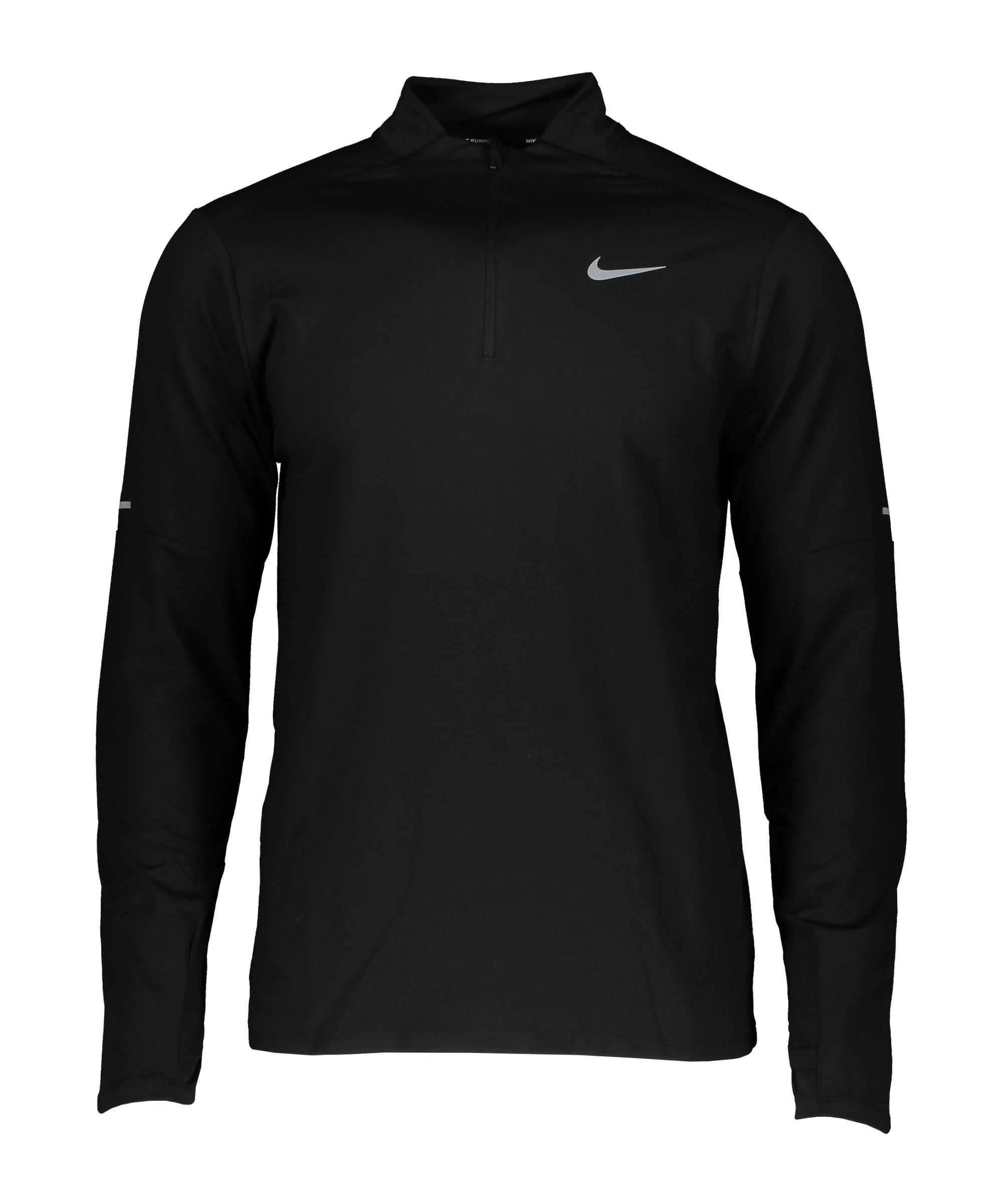 Nike Element HalfZip Sweatshirt Running F010 - schwarz