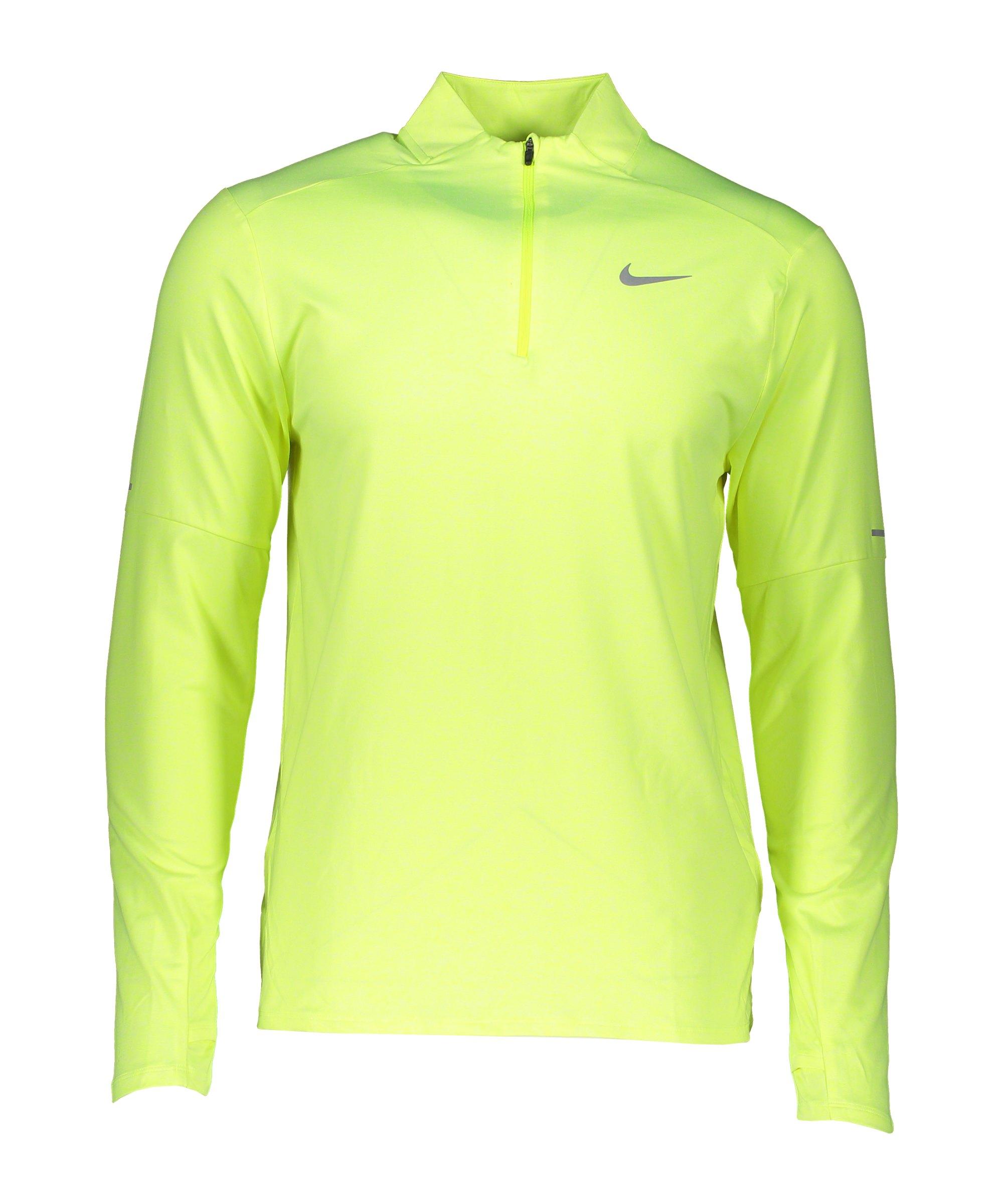 Nike Element HalfZip Sweatshirt Running F702 - gelb