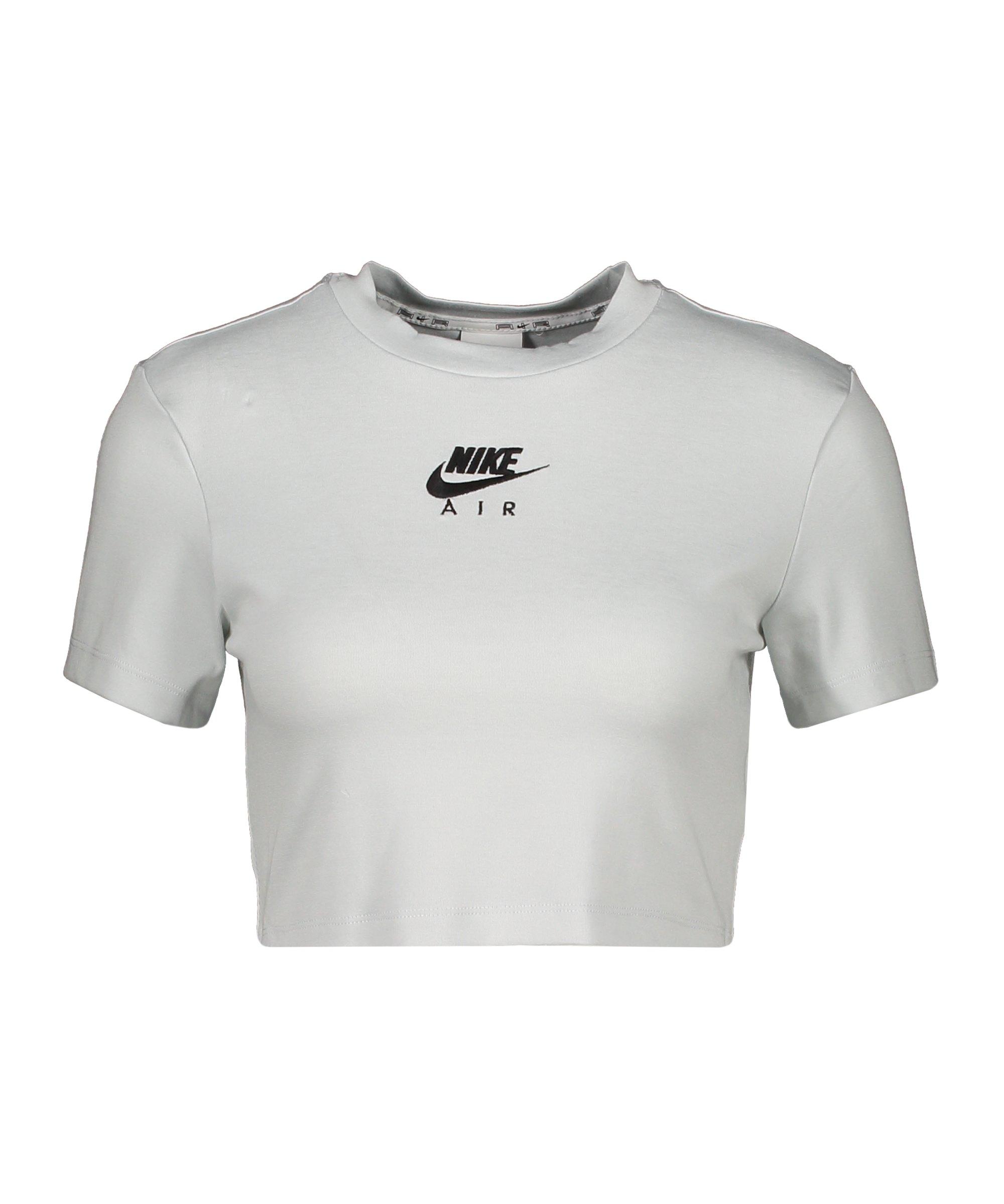 Nike Air Crop T-Shirt Damen Grau F043 - grau