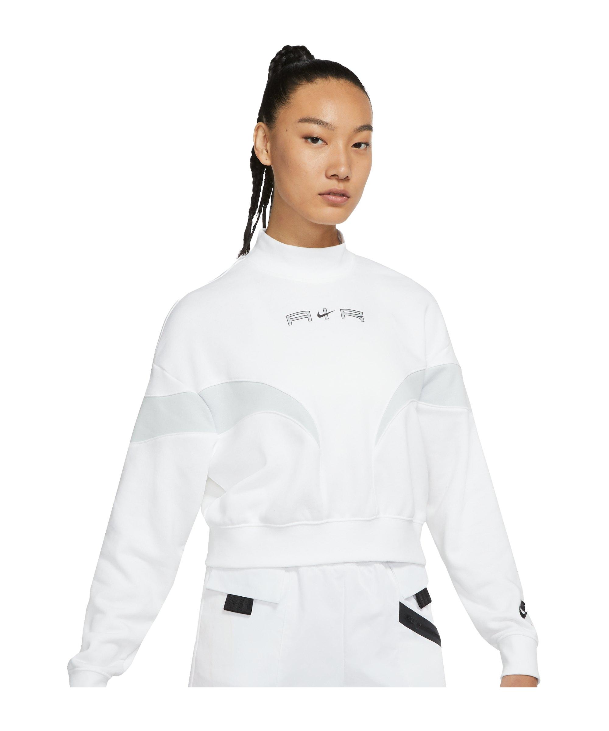 Nike Air Fleece Mock Sweatshirt Damen Weiss F100 - weiss
