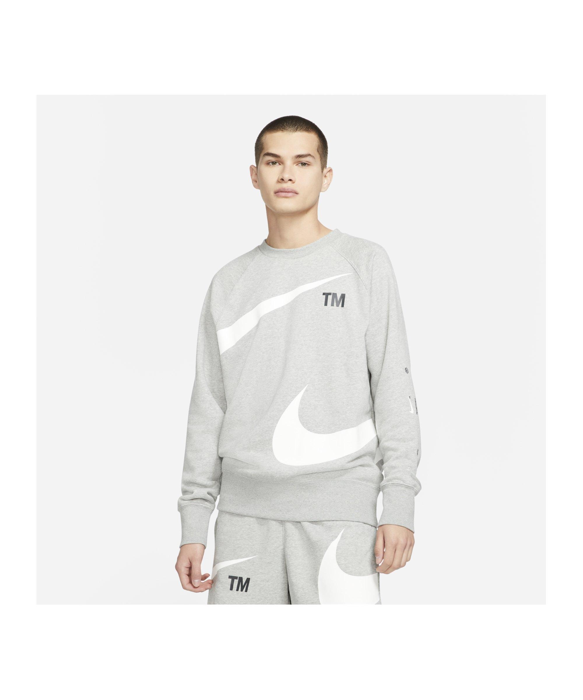 Nike Swoosh Fleece Sweatshirt Grau F063 - grau