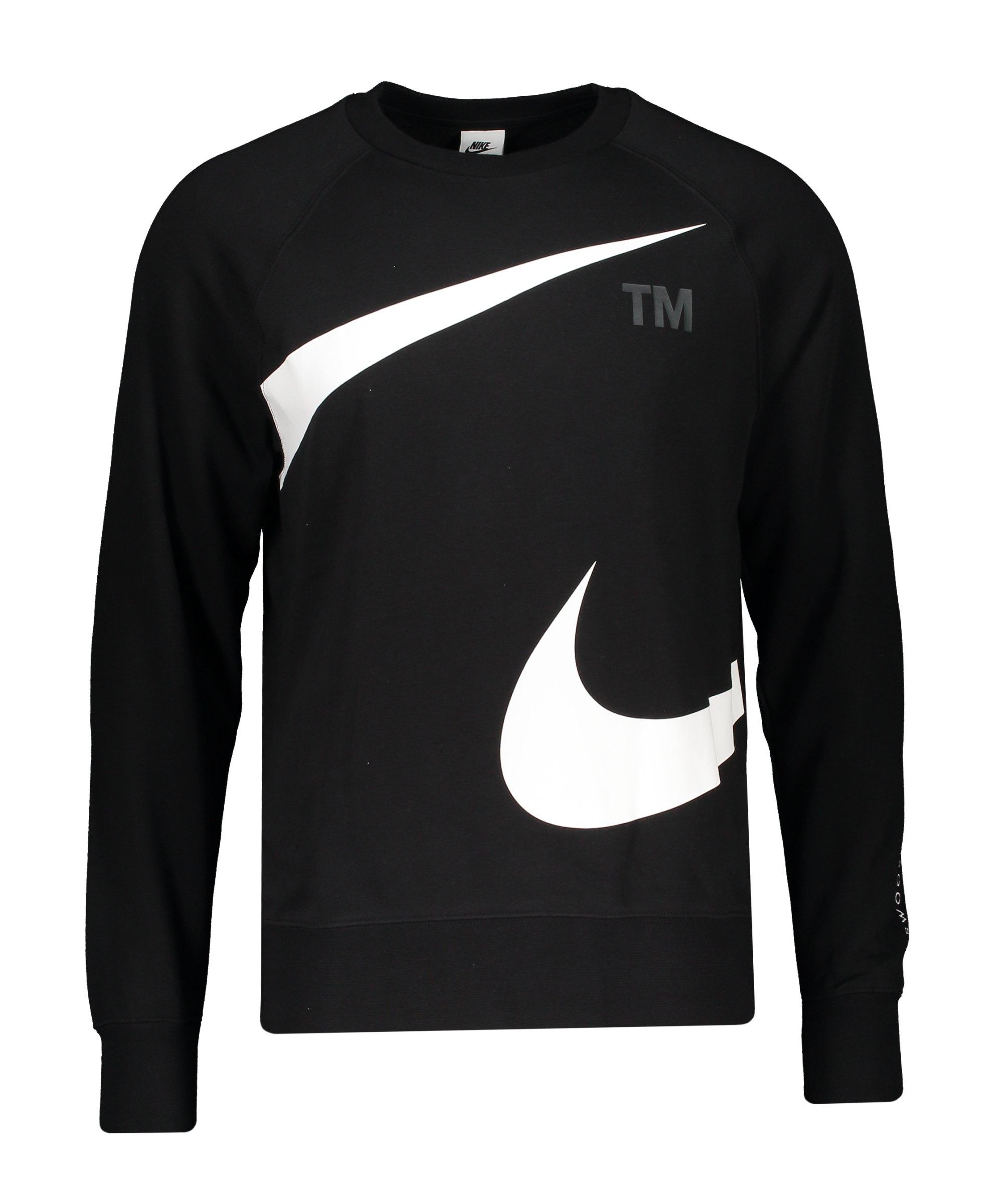 Nike Swoosh Fleece Sweatshirt Schwarz F010 - schwarz