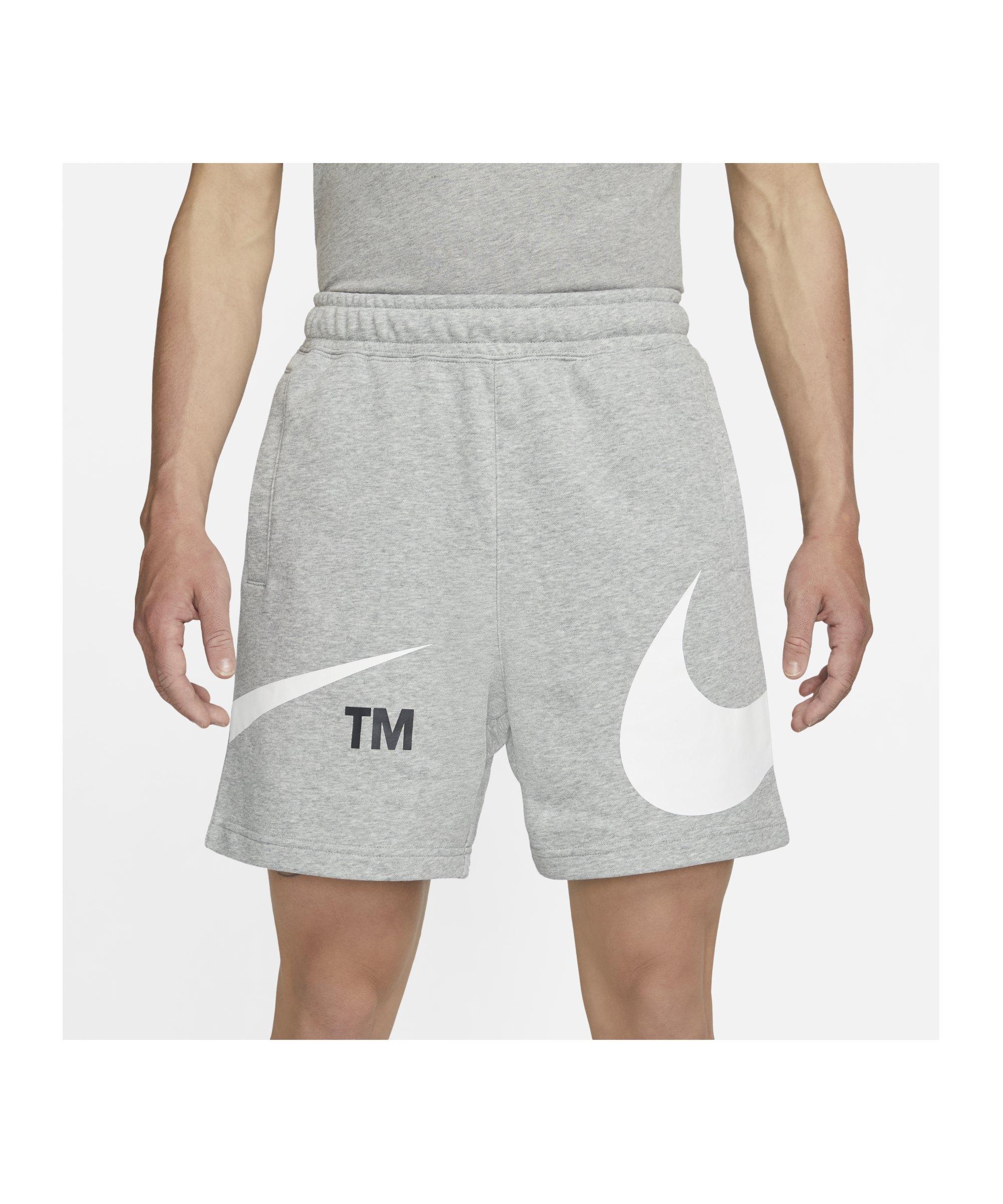 Nike Sport Swoosh French Terry Short Grau F063 - grau