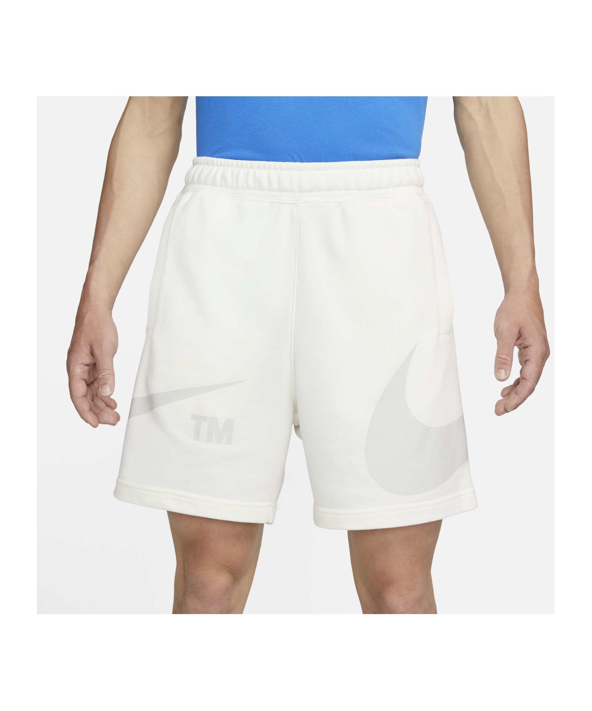 Nike Sport Swoosh French Terry Short Weiss F133 - weiss