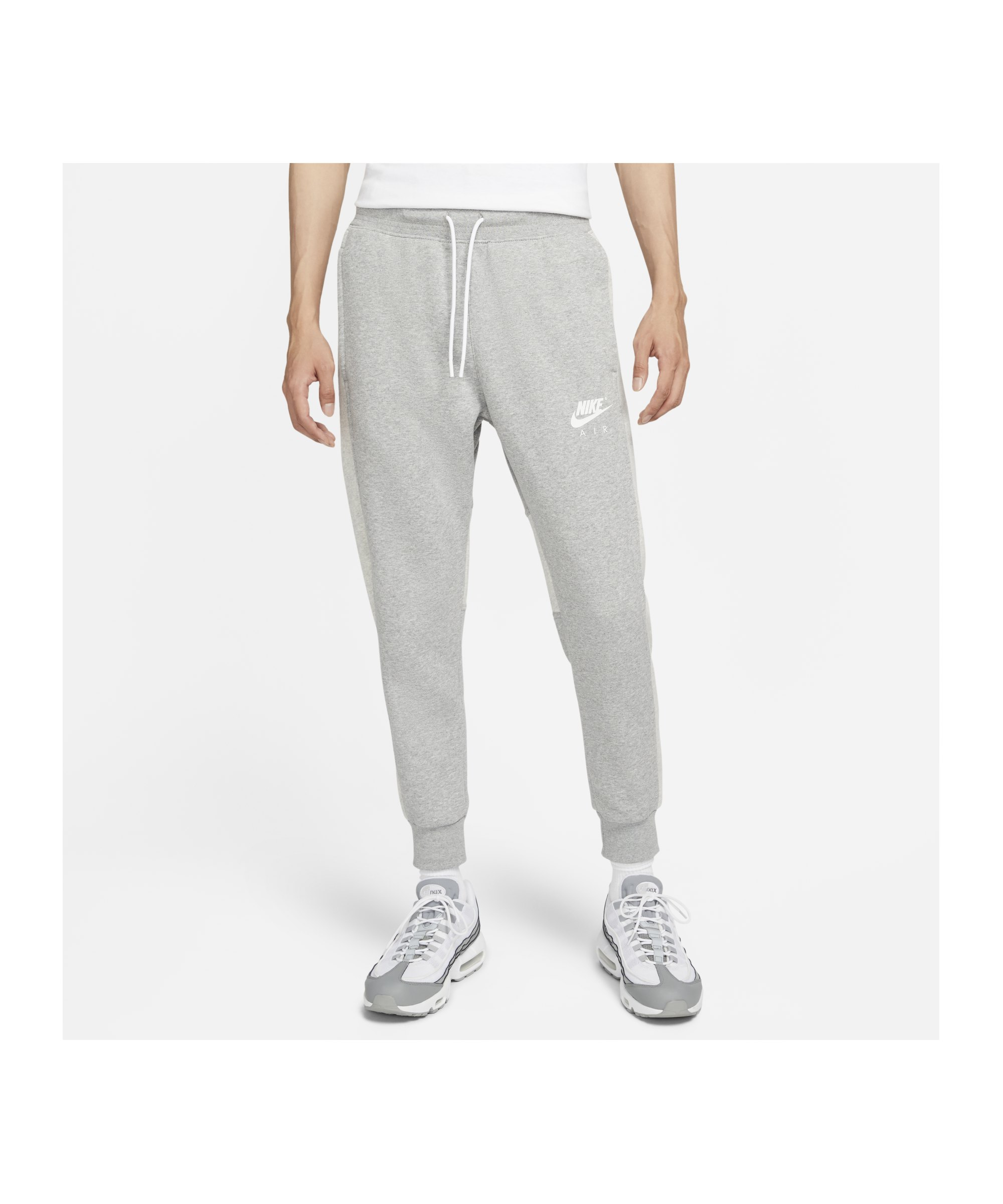 Nike Air Brushed-Back Fleece Jogginghose Grau F063 - grau