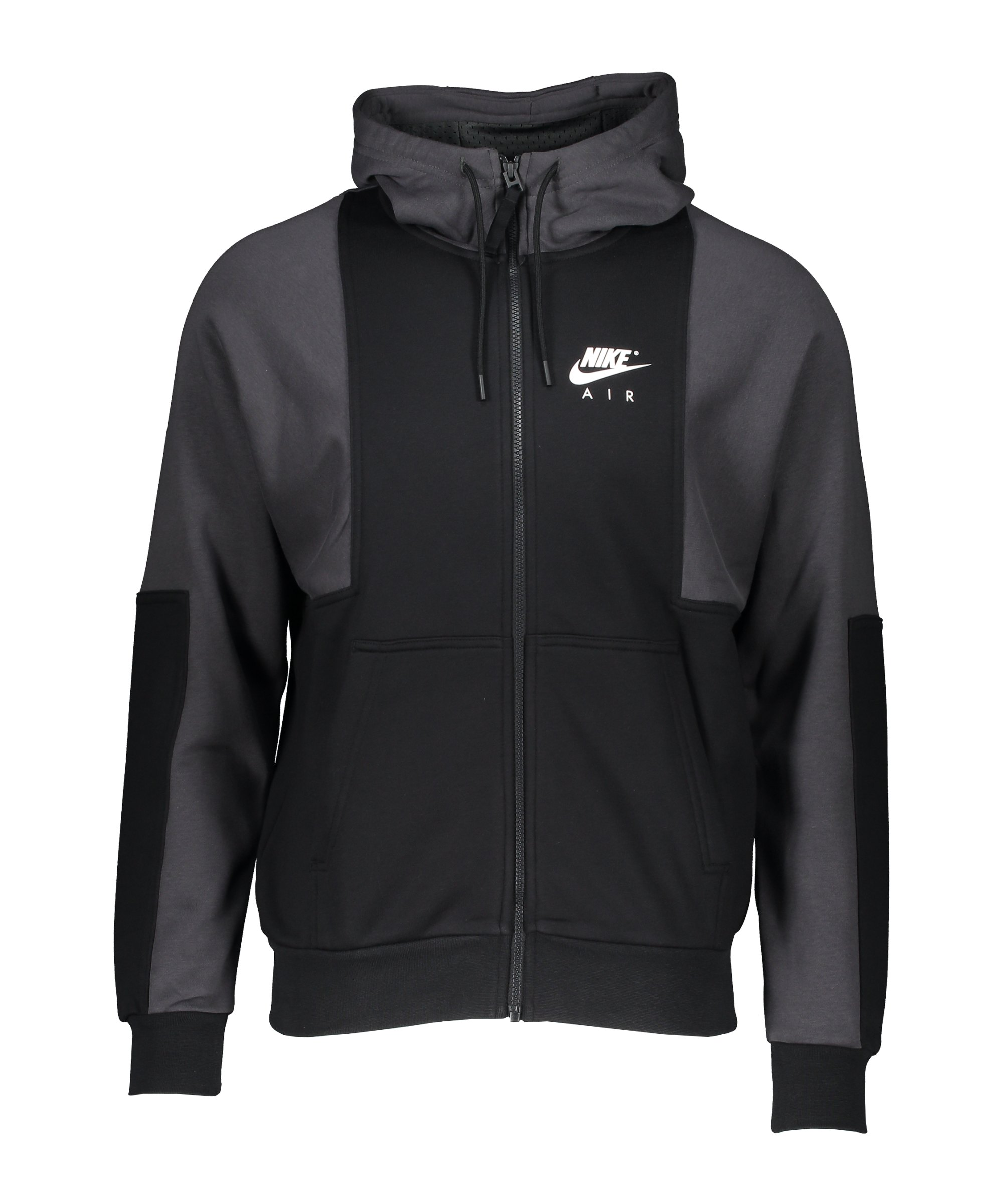 Nike Air Brushed-Back Fleece Kapuzenjacke F010 - schwarz