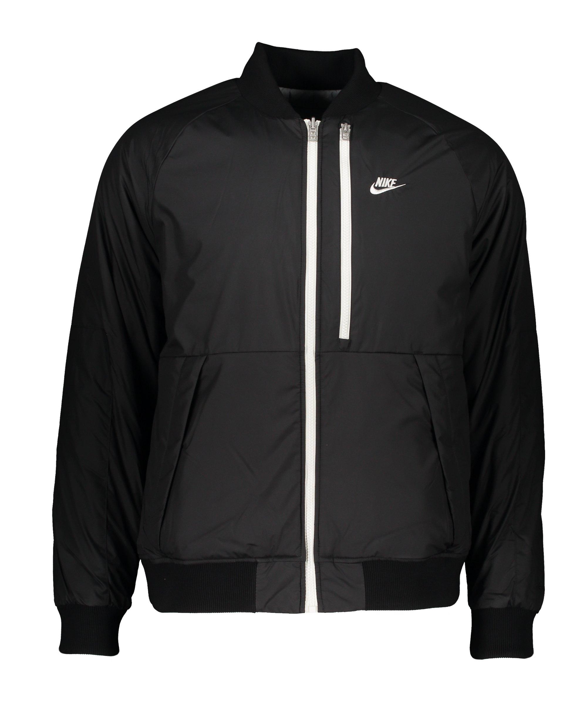 Nike Therma-FIT Legacy Bomber Jacke Schwarz F010 - schwarz