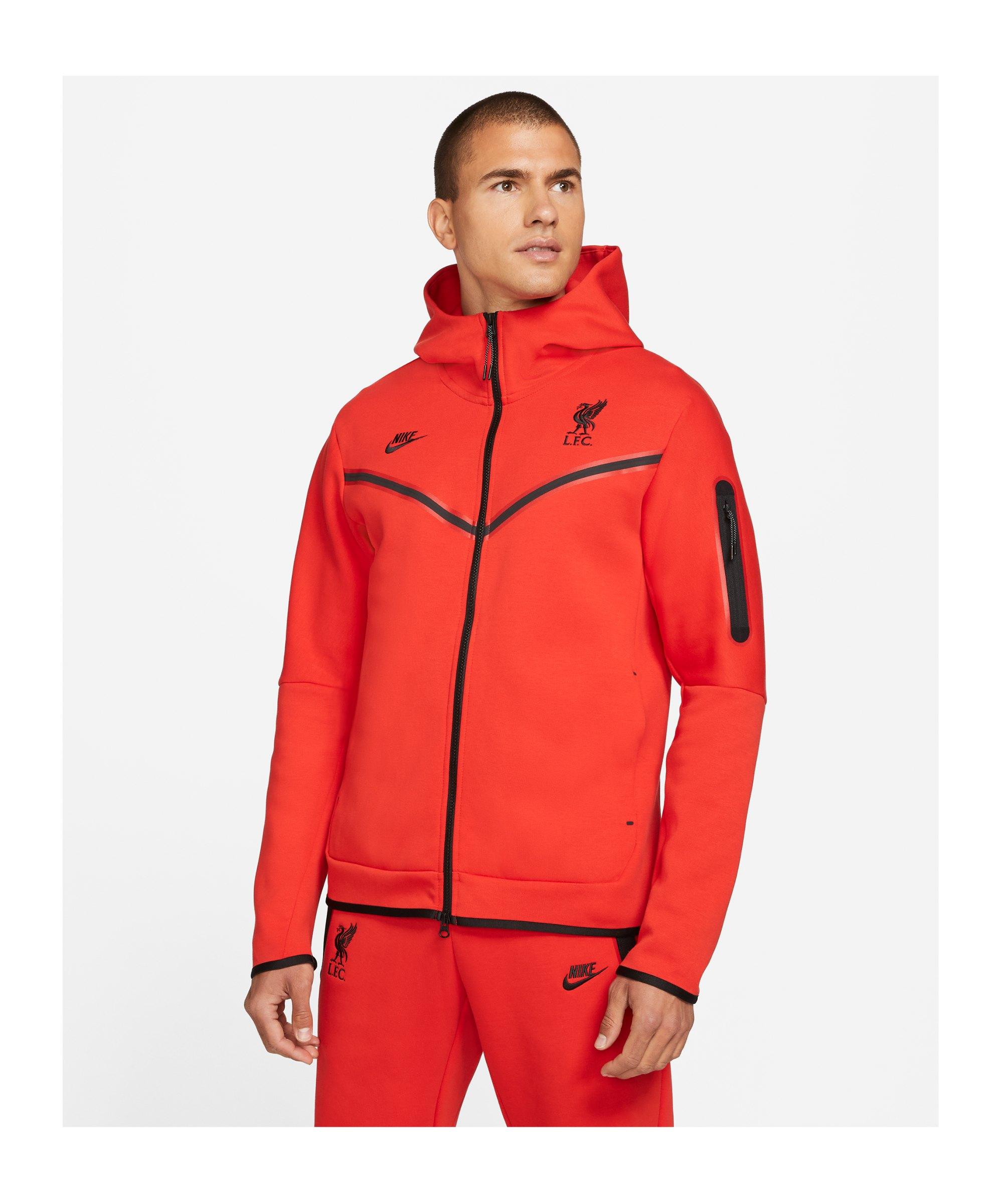 Nike FC Liverpool Tech Fleece Kapuzenjacke F612 - rot