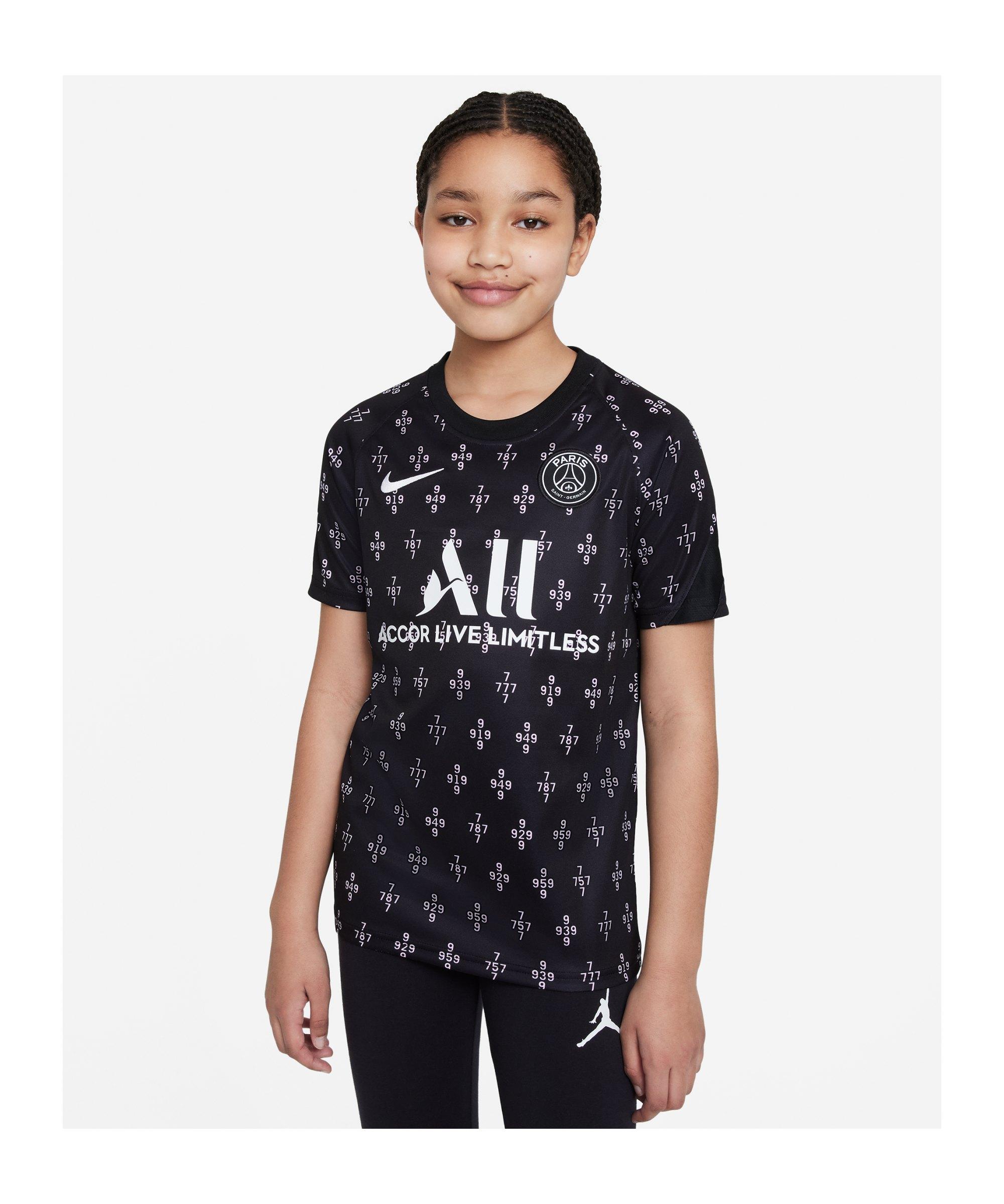 Nike Paris St. Germain Prematch Shirt 2021/2022 Kids F658 - rosa