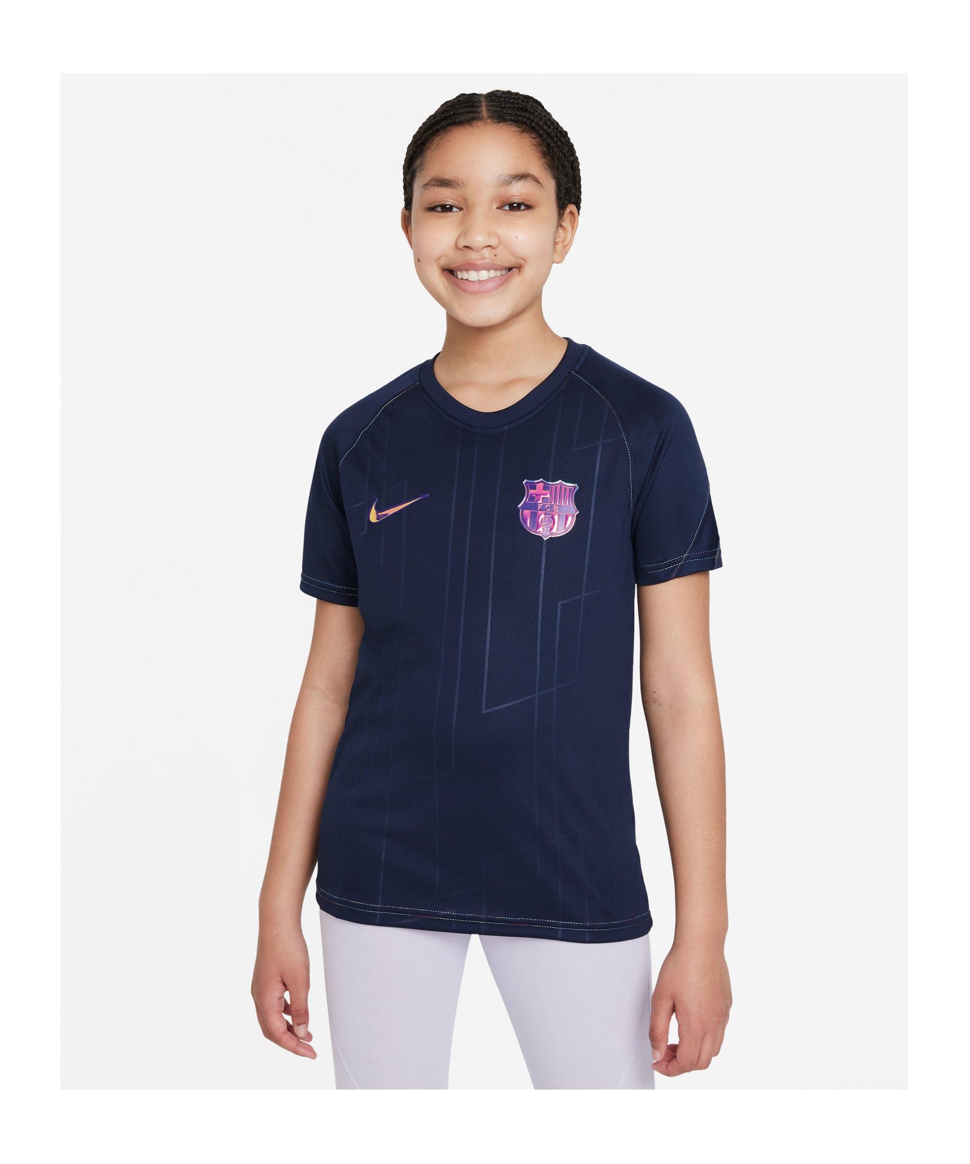 Nike FC Barcelona Prematch Shirt 2021/2022 Kids F452 - blau