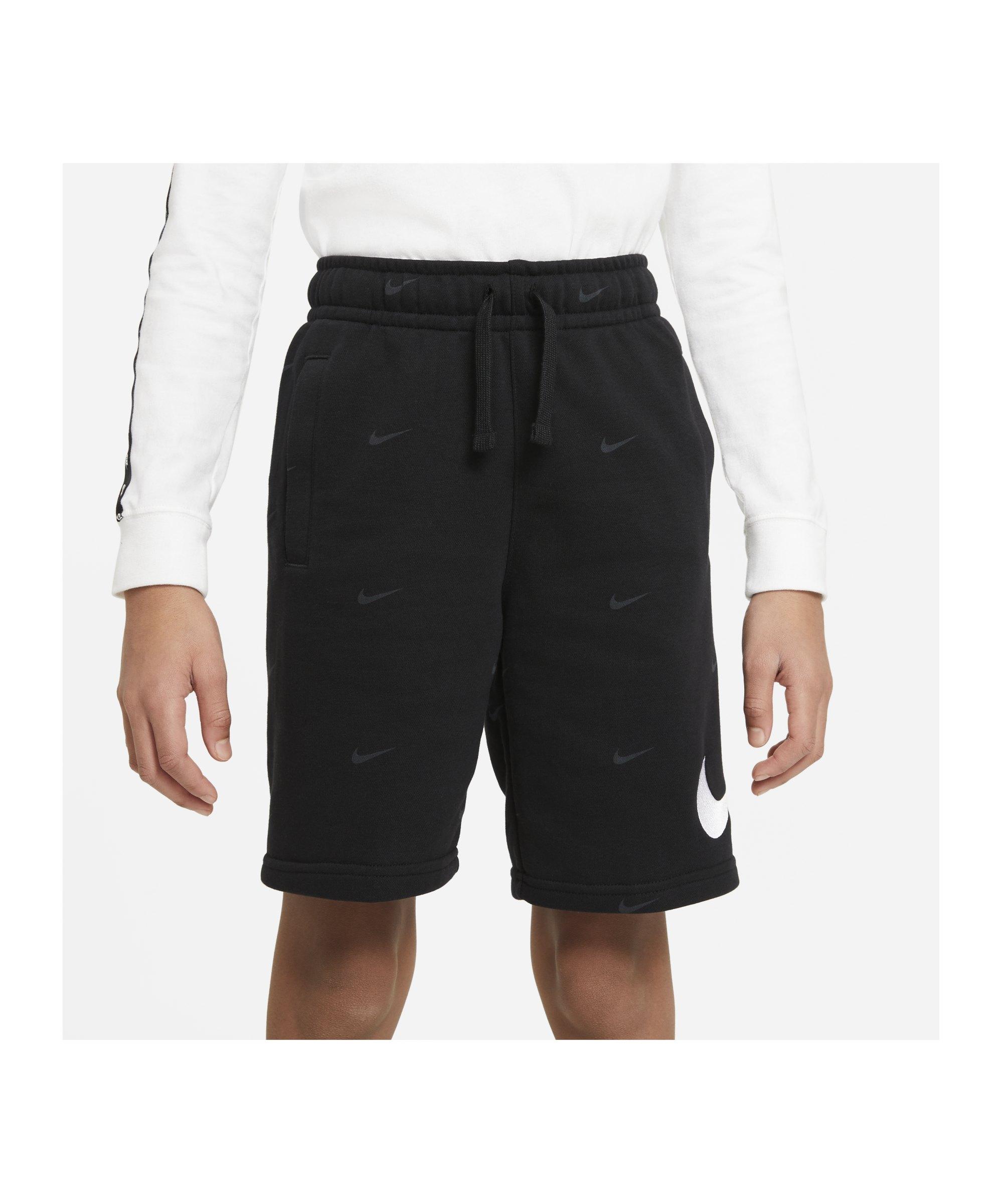 Nike Swoosh Short Kids Schwarz F010 - schwarz