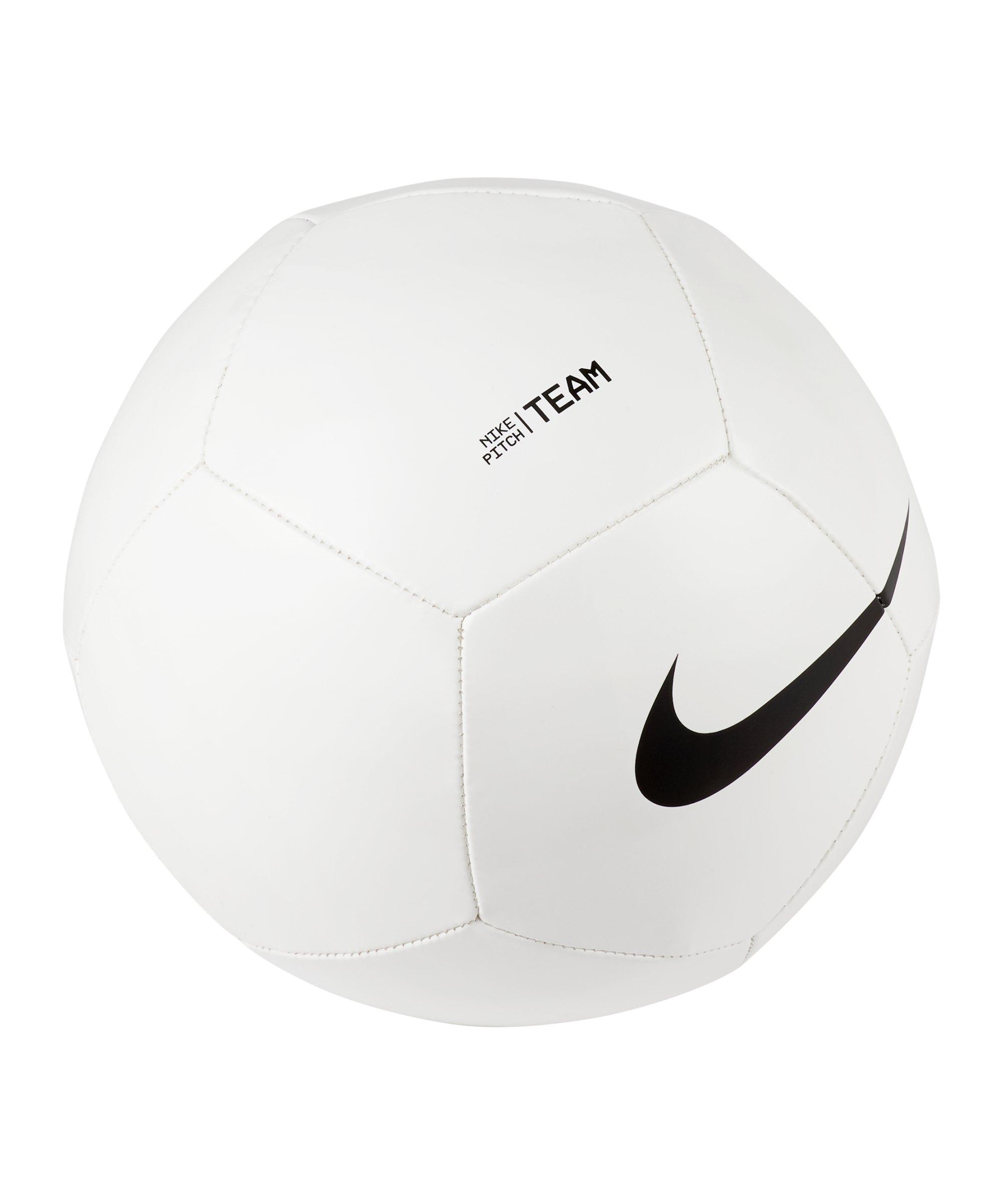 Nike Pitch Team Trainingsball Weiss Schwarz F100 - weiss