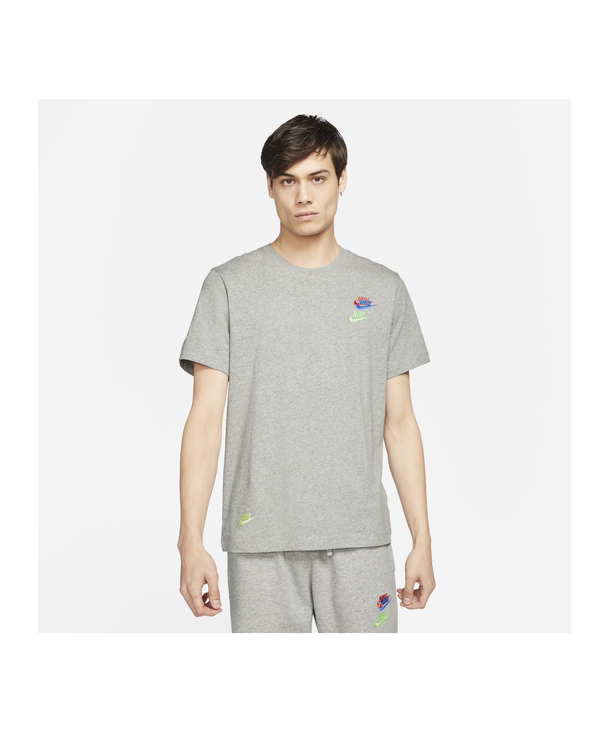 Nike Sportswear T-Shirt Grau F063 - grau