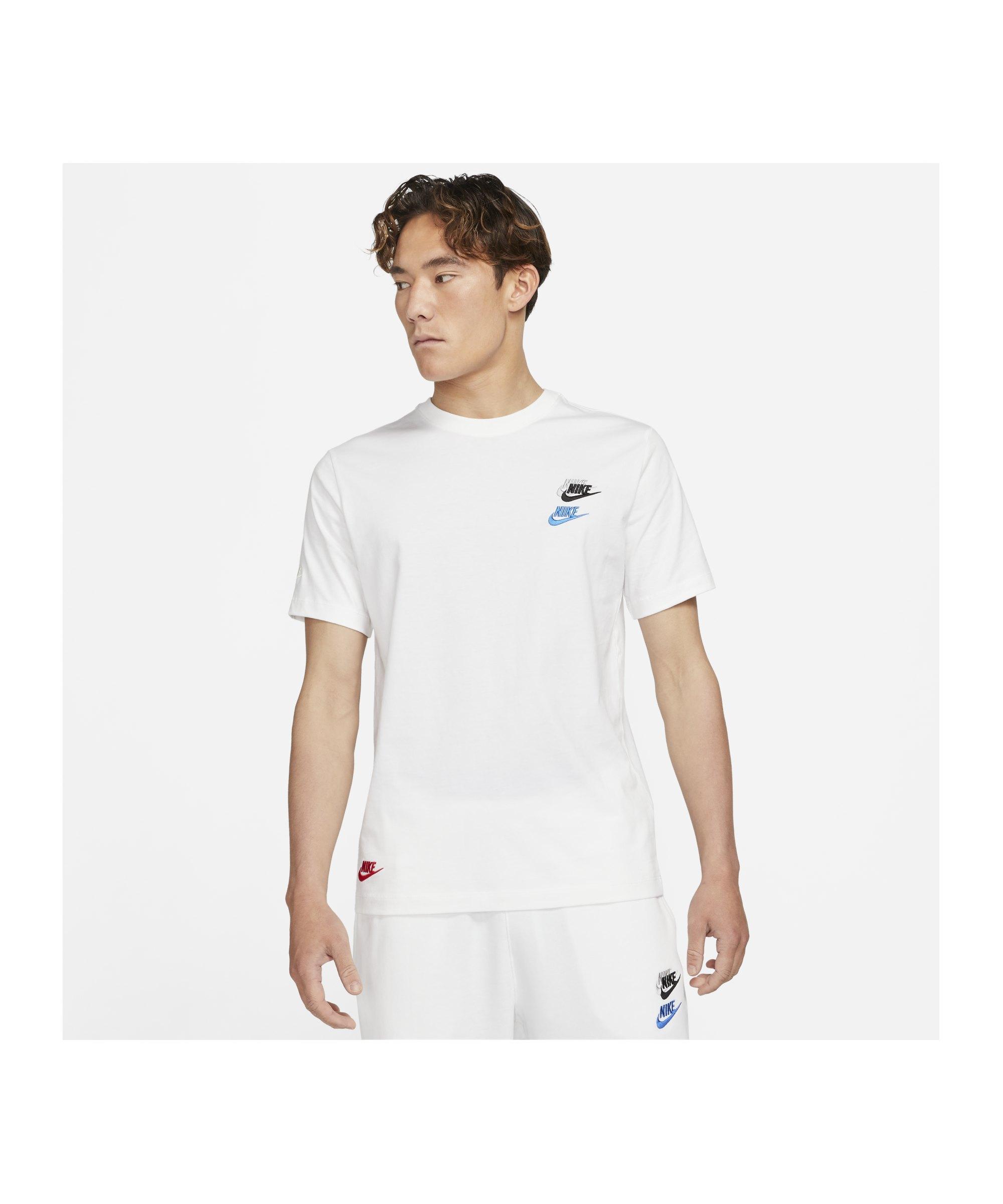 Nike Sportswear T-Shirt Weiss F100 - weiss