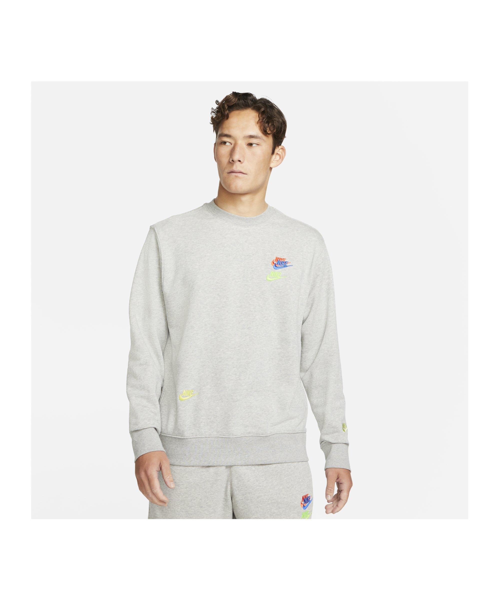 Nike Essential French Terry Crew Sweatshirt F063 - grau