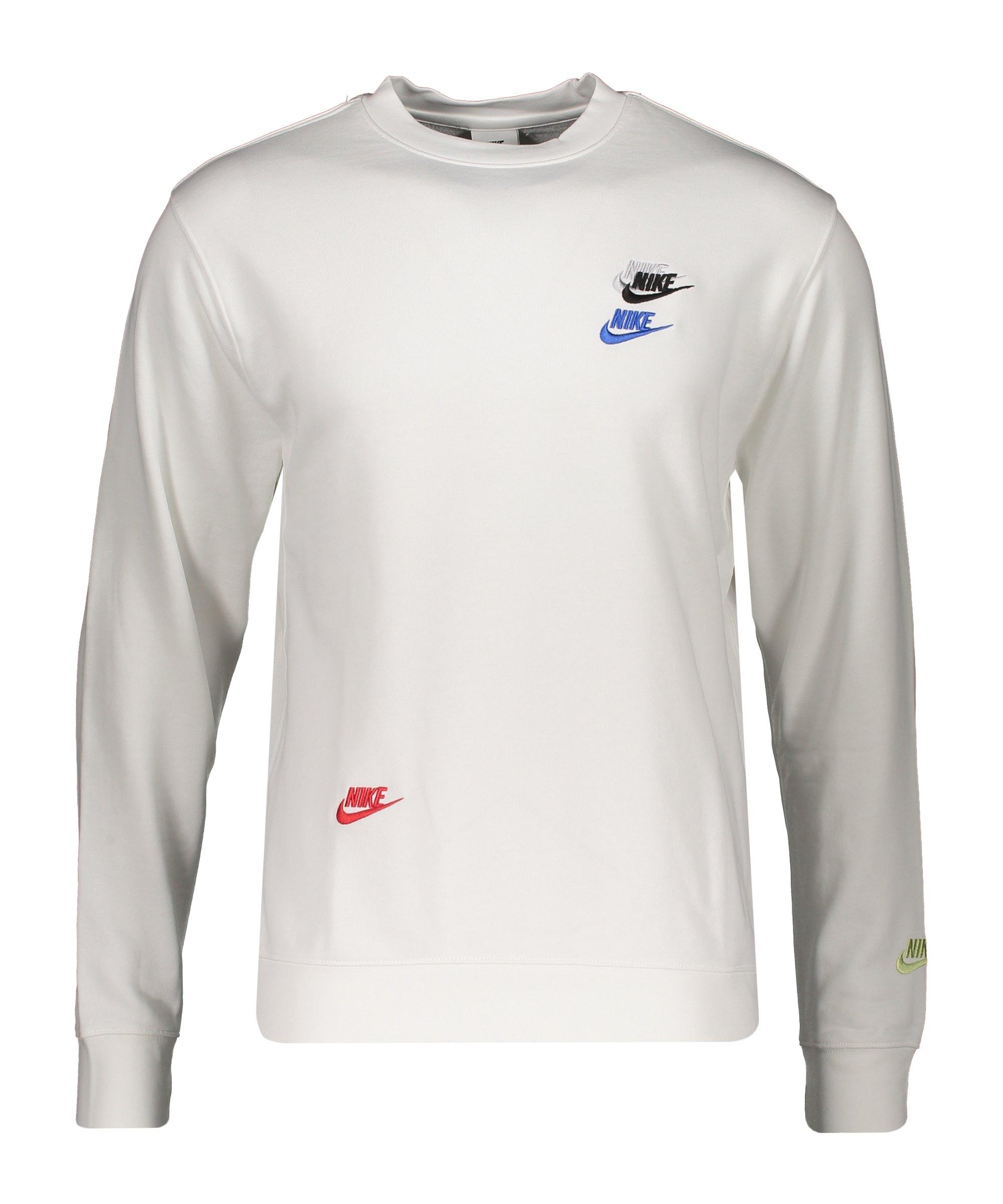 Nike Essential French Terry Crew Sweatshirt F100 - weiss