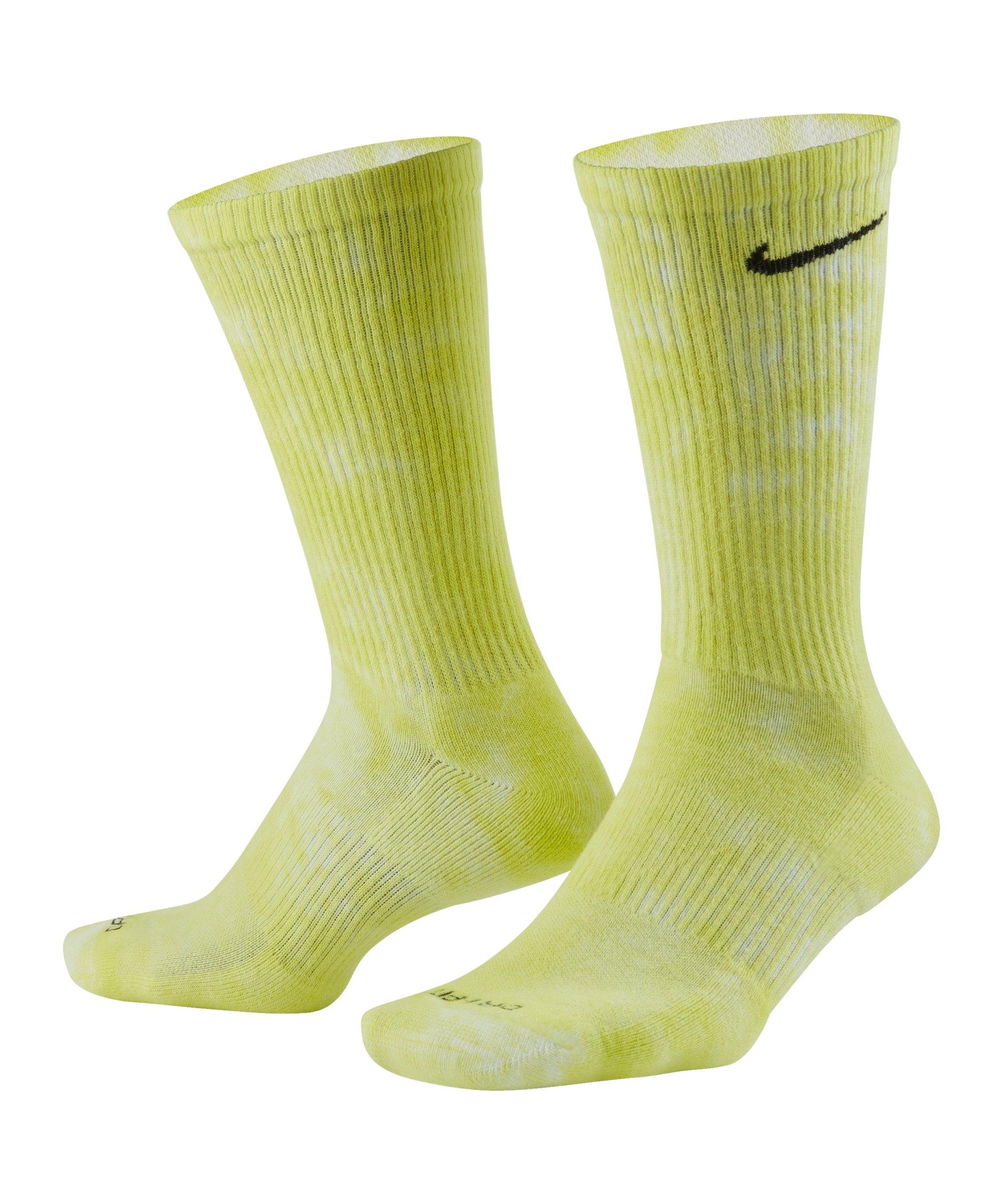 Nike Everyday Plus Cush Crew 2er Pack Socken F904 - gelb